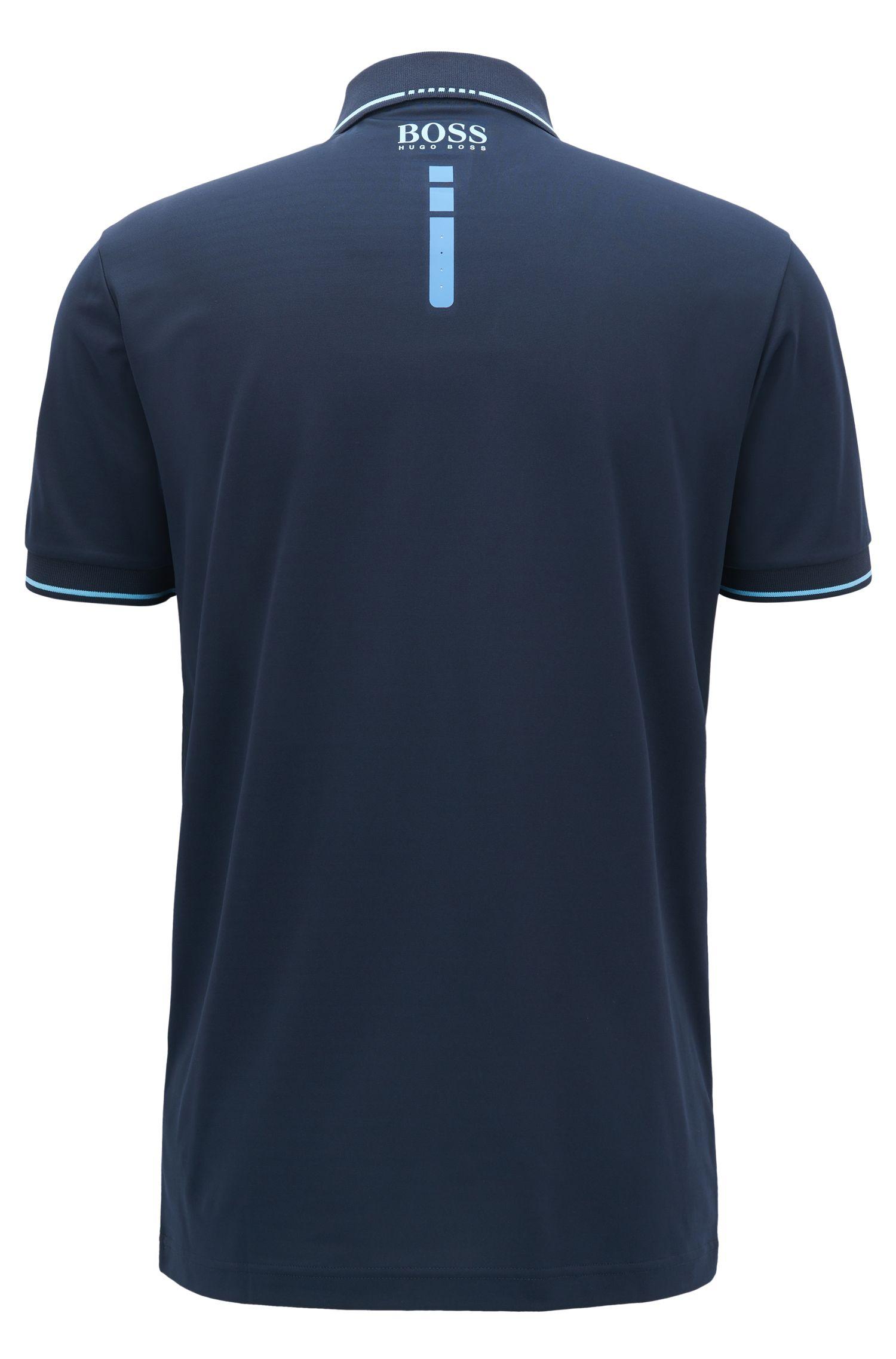 Tipped Polo Shirt, Slim Fit | Paule MK, Dark Blue