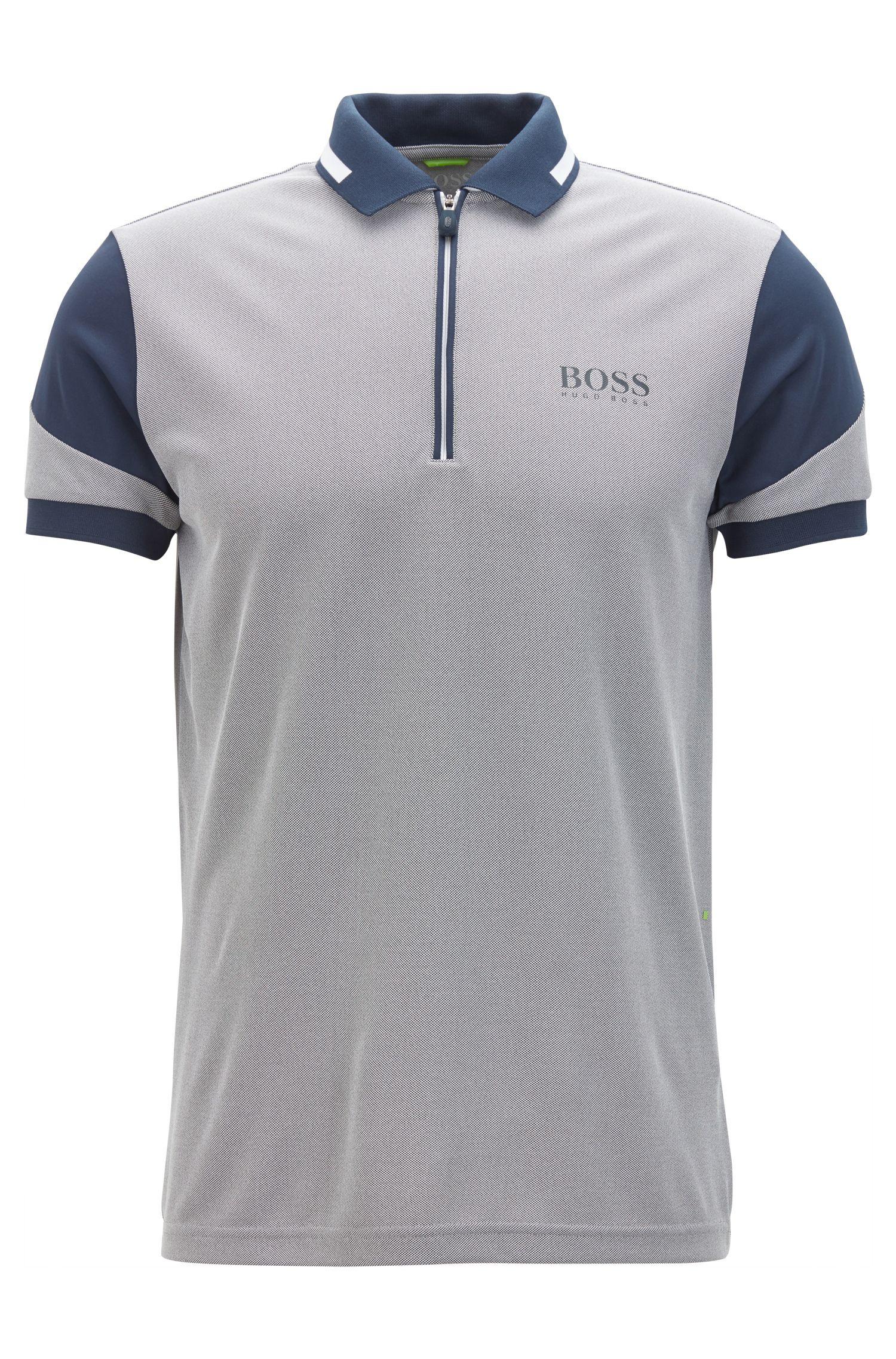Zipped Polo Shirt, Regular FIt   Prek Pro