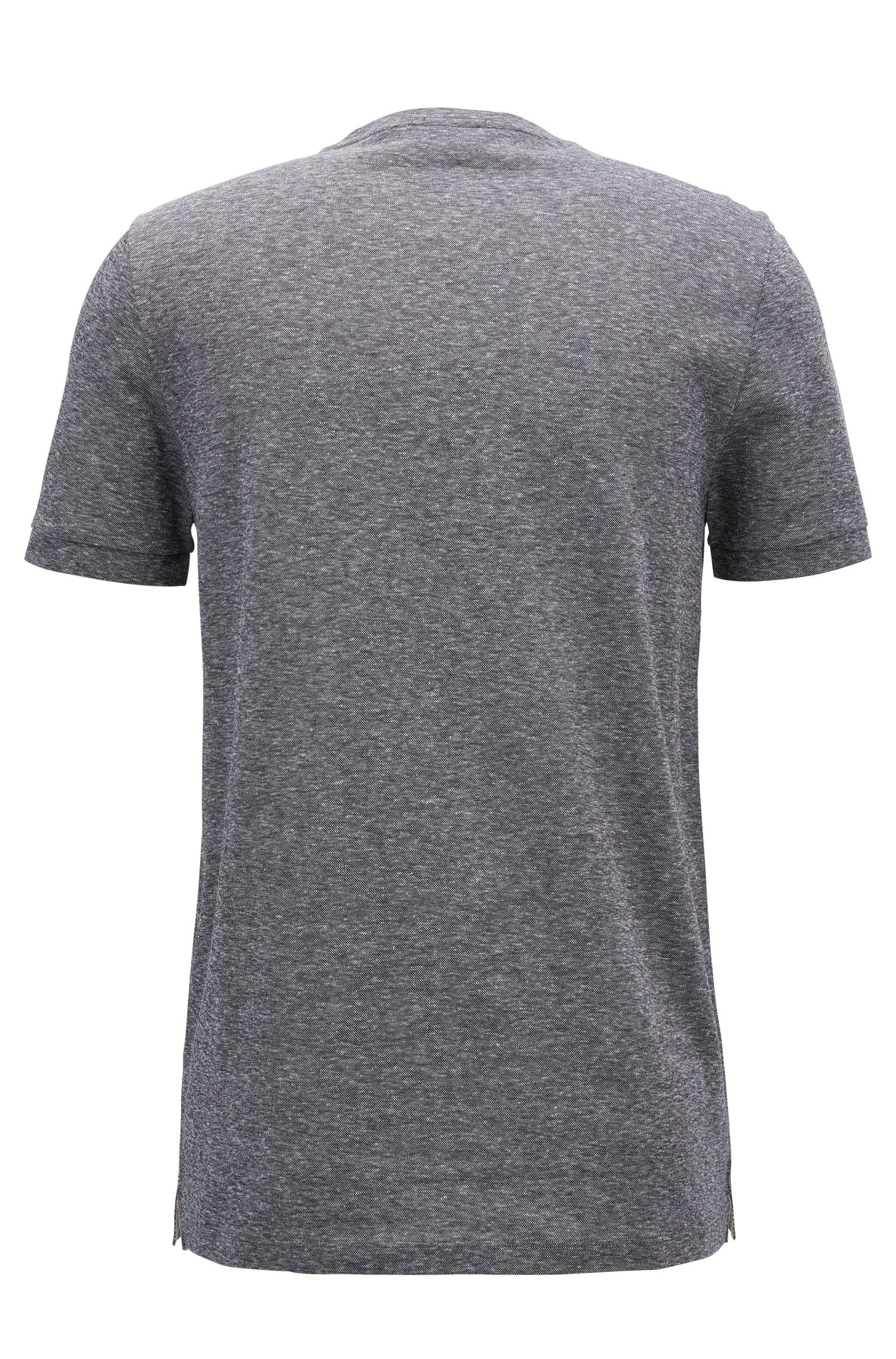 Cotton Linen T-Shirt | Tessler, Black