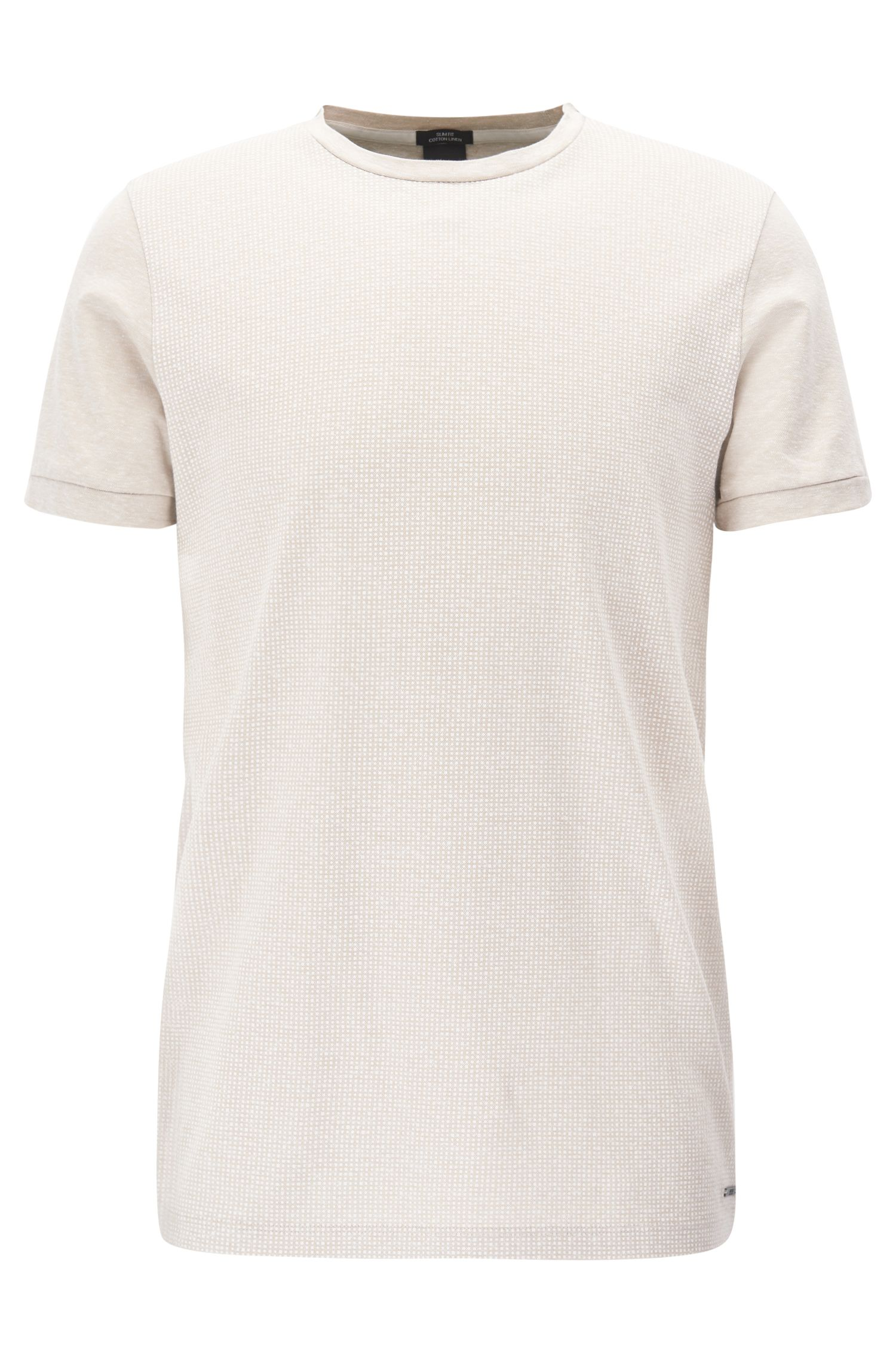 Cotton Linen T-Shirt | Tessler, Natural