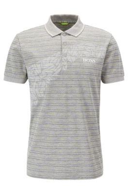 Cotton Blend Polo Shirt, Slim Fit   Paule Pro, Light Grey