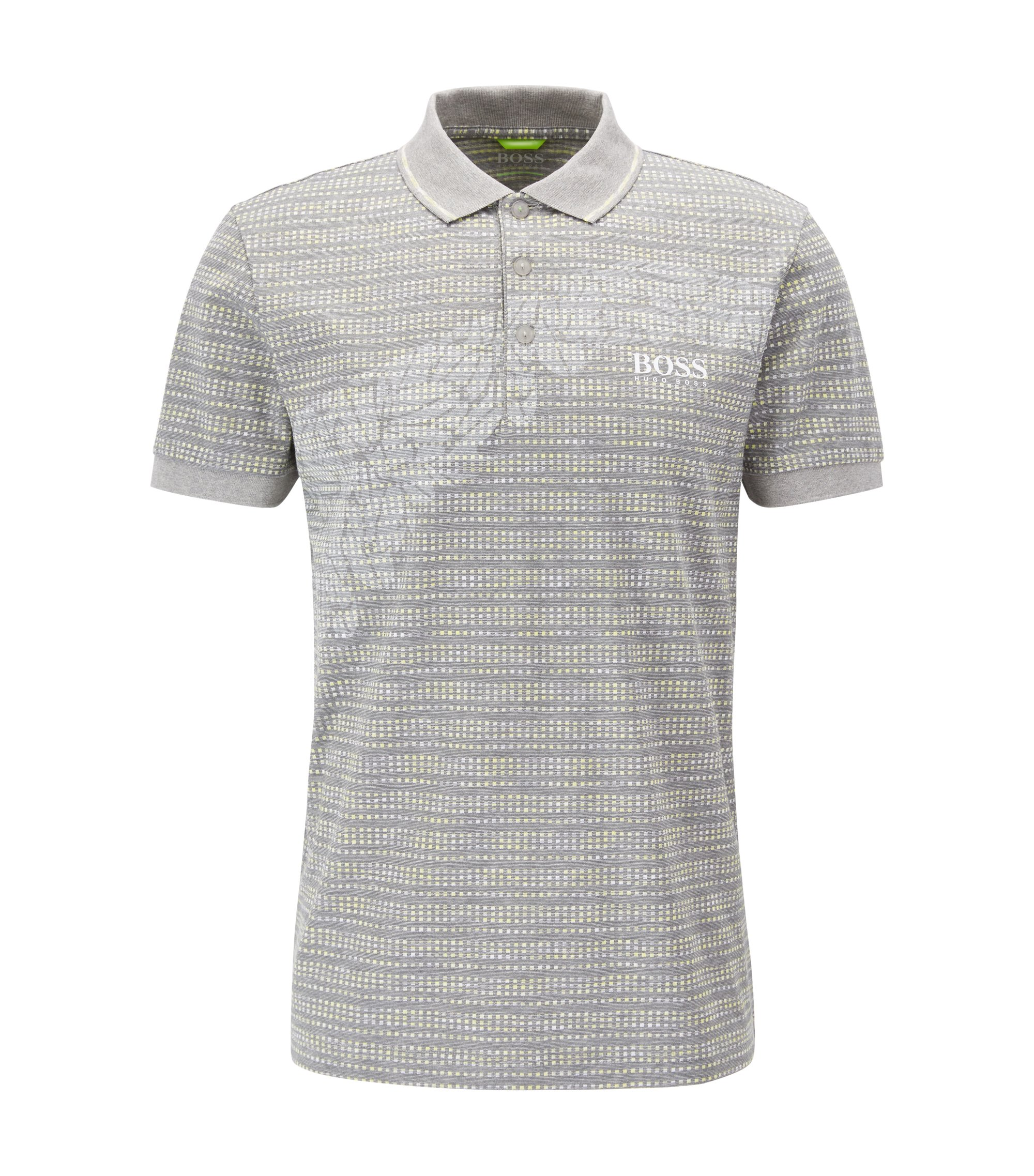 Cotton Blend Polo Shirt, Slim Fit | Paule Pro, Light Grey