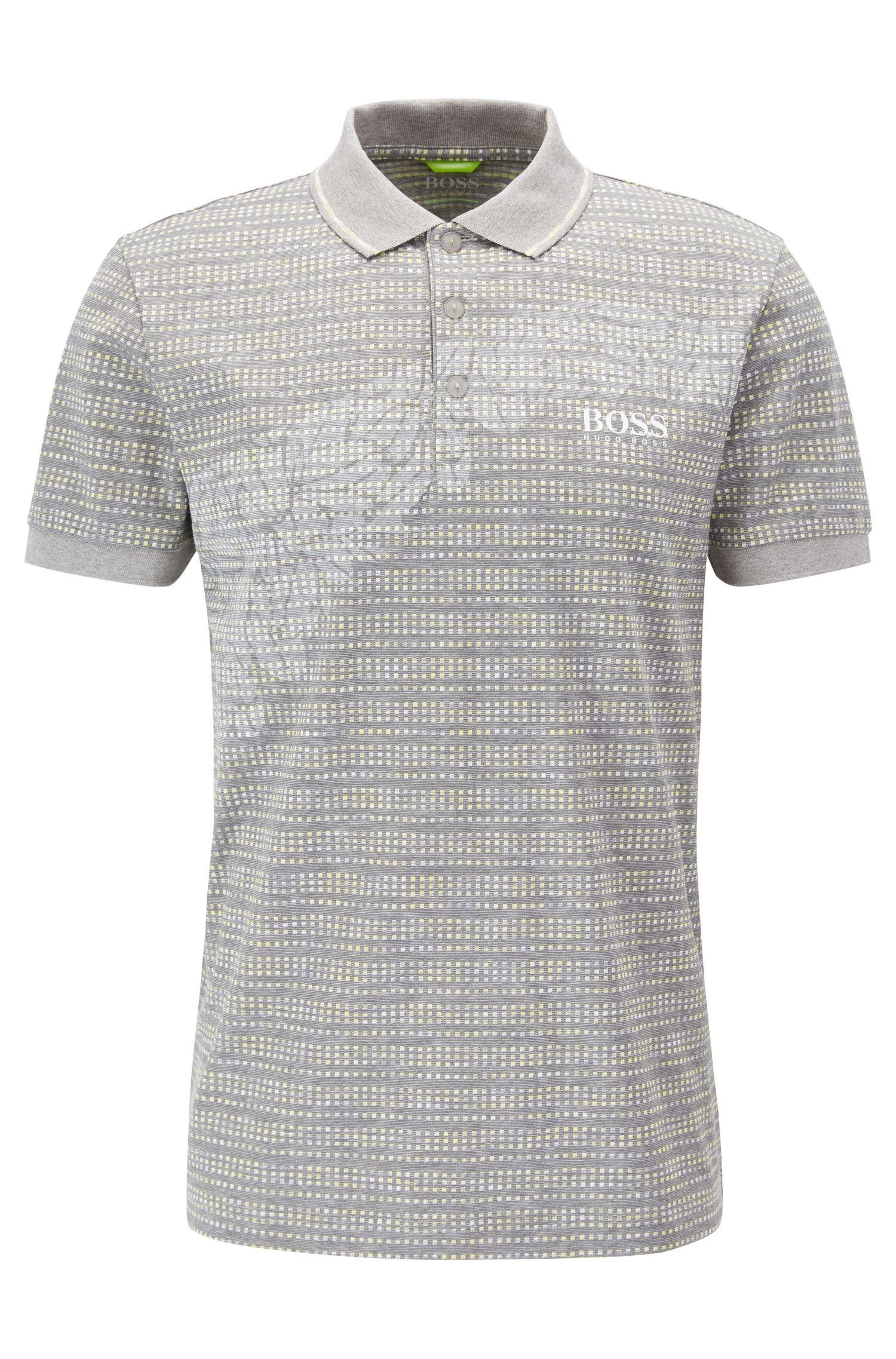 Cotton Blend Polo Shirt, Slim Fit | Paule Pro, Light Grey