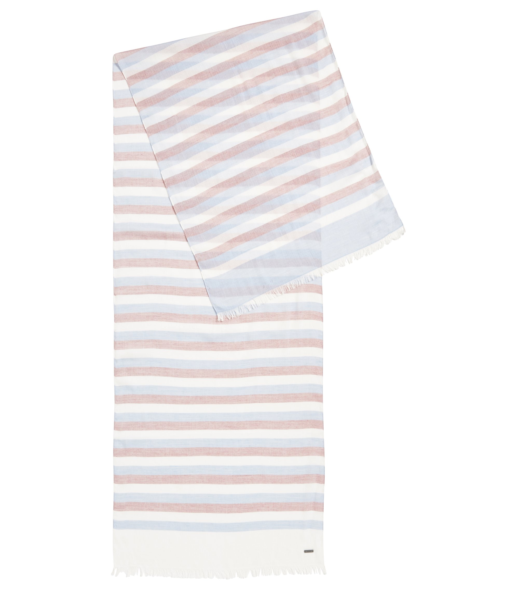 Striped Scarf | Catyo, Light Blue