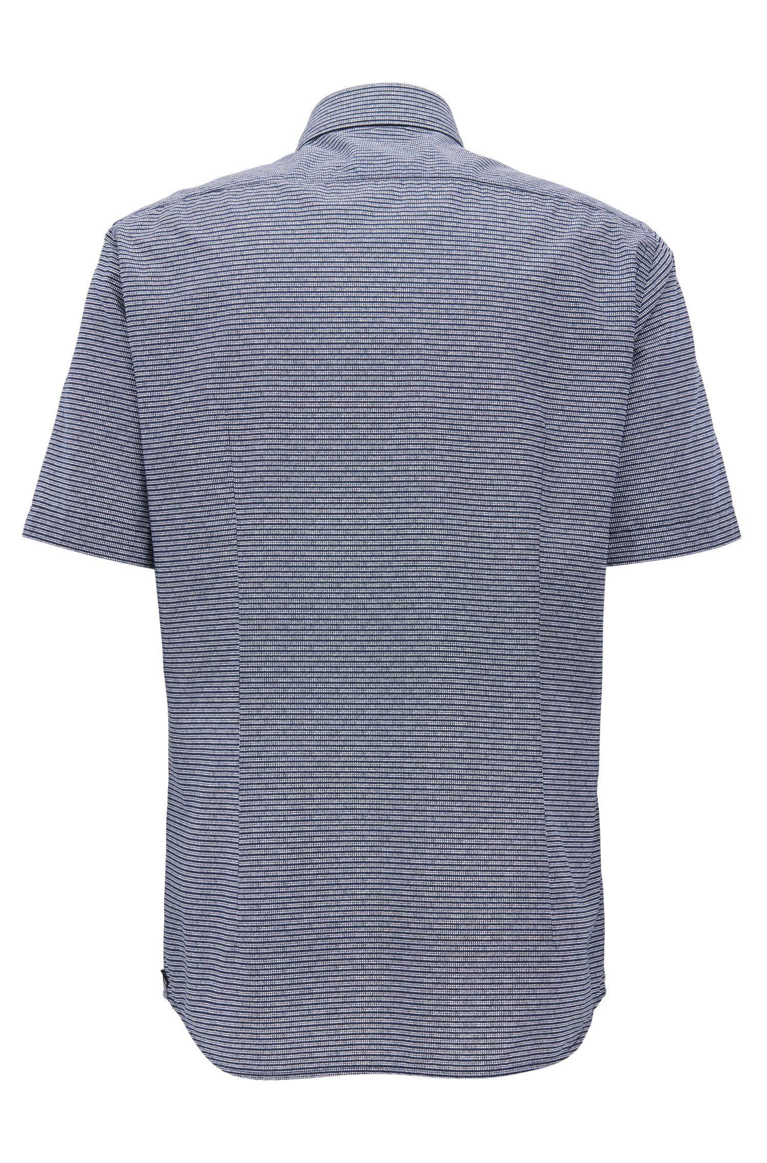 Striped Cotton Sport Shirt, Regular Fit | Lodi, Dark Blue