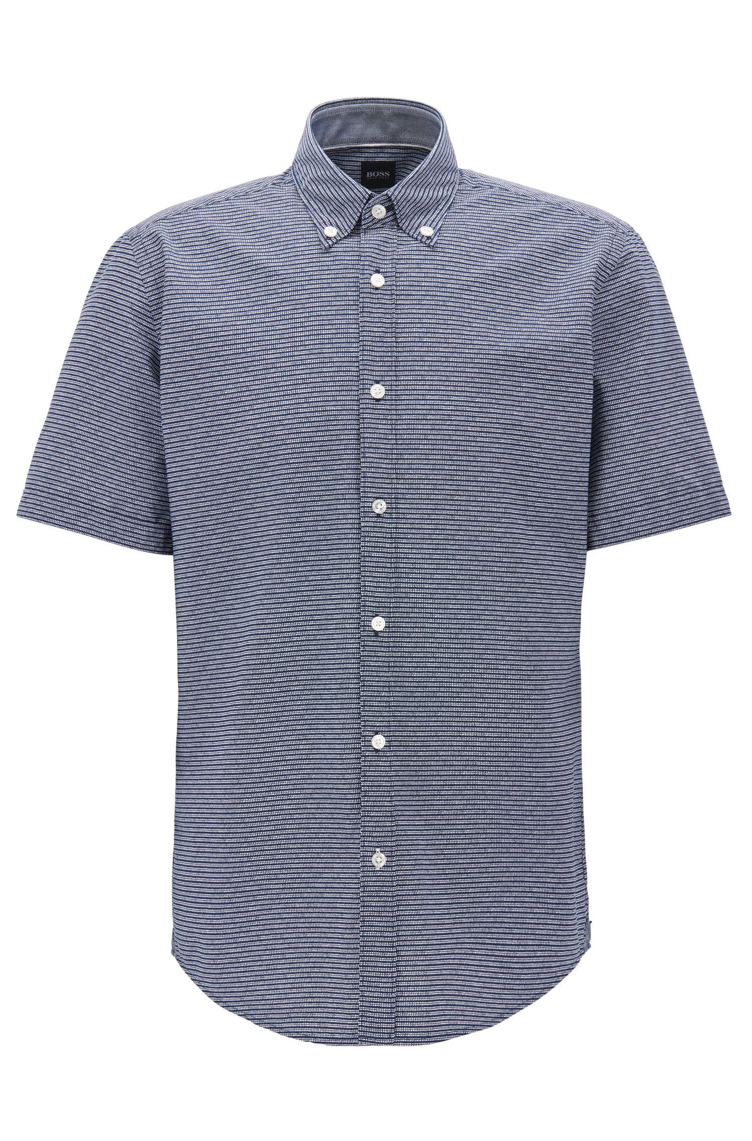 Striped Cotton Sport Shirt, Regular Fit | Lodi