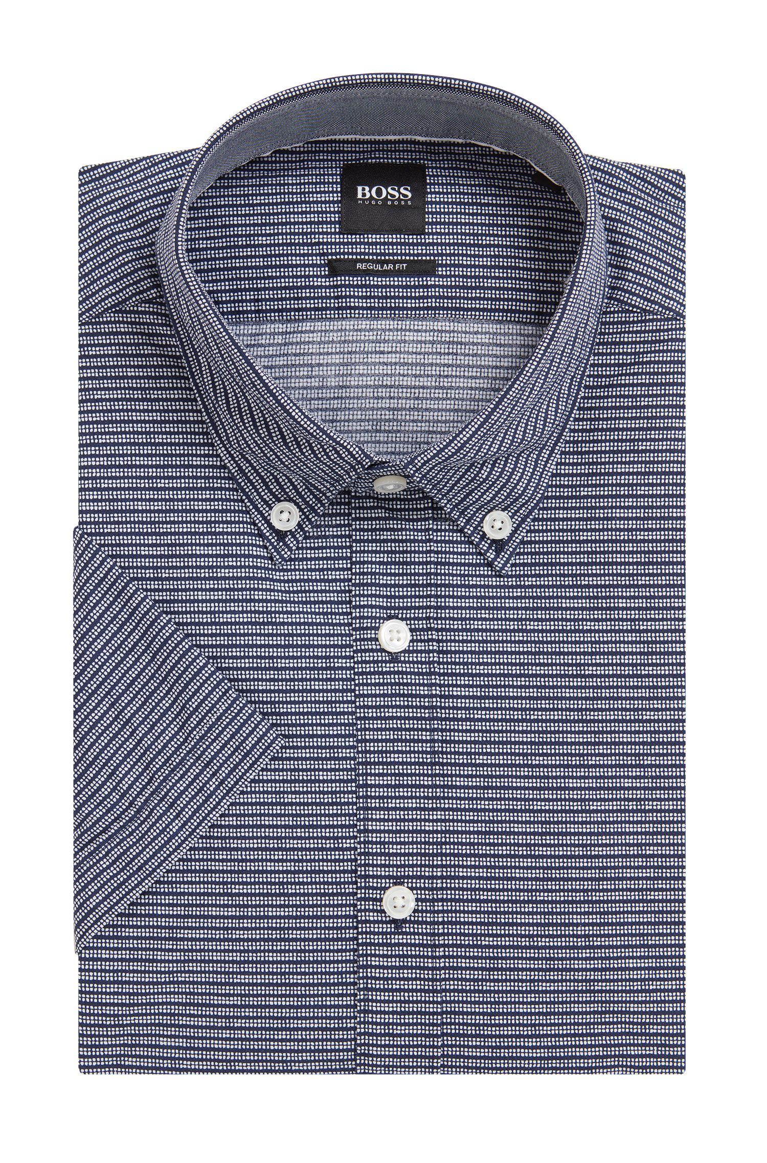 Striped Cotton Sport Shirt, Regular Fit | Lodi