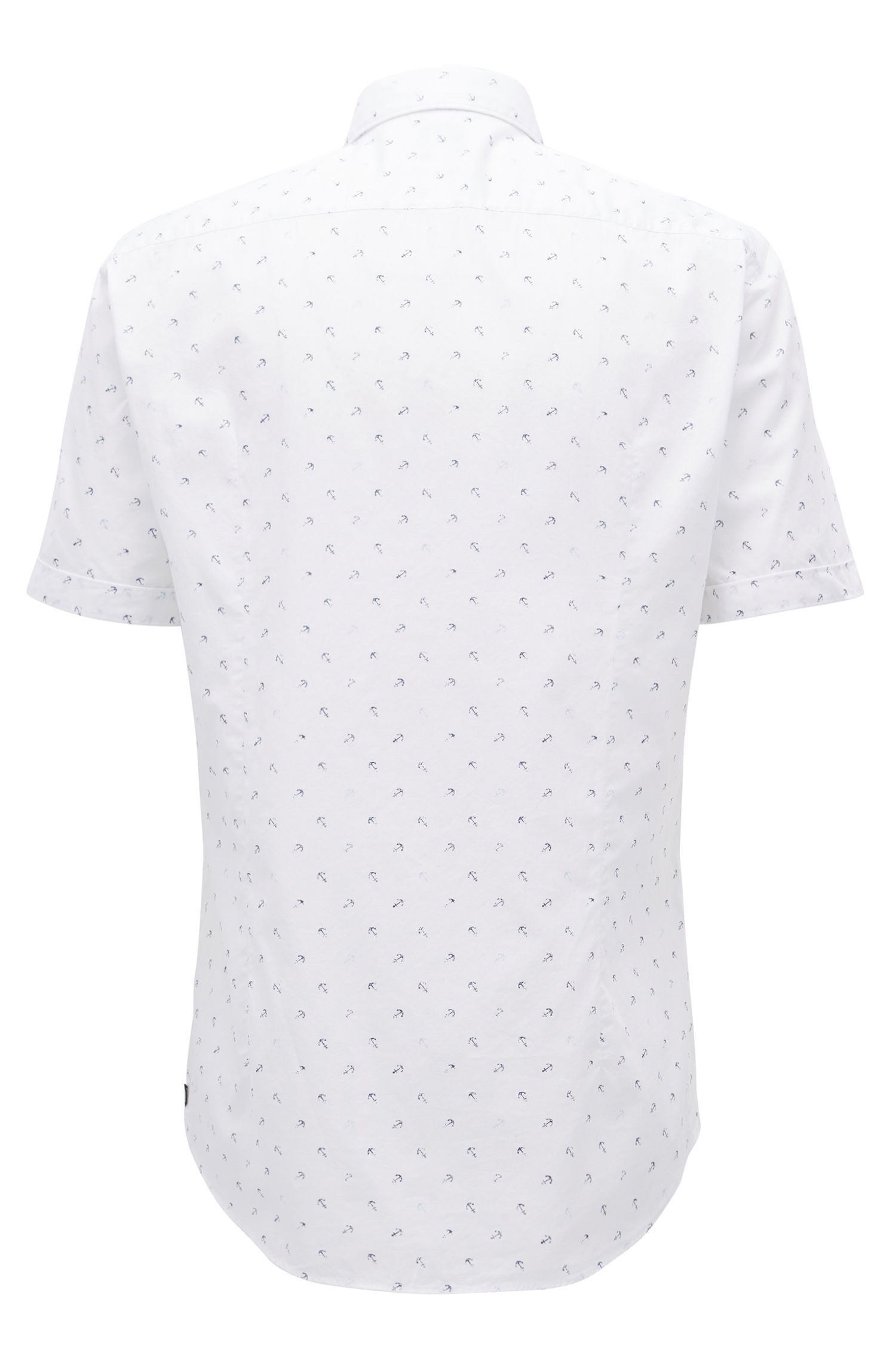 Anchor-Print Sport Shirt, Slim Fit | Ronn