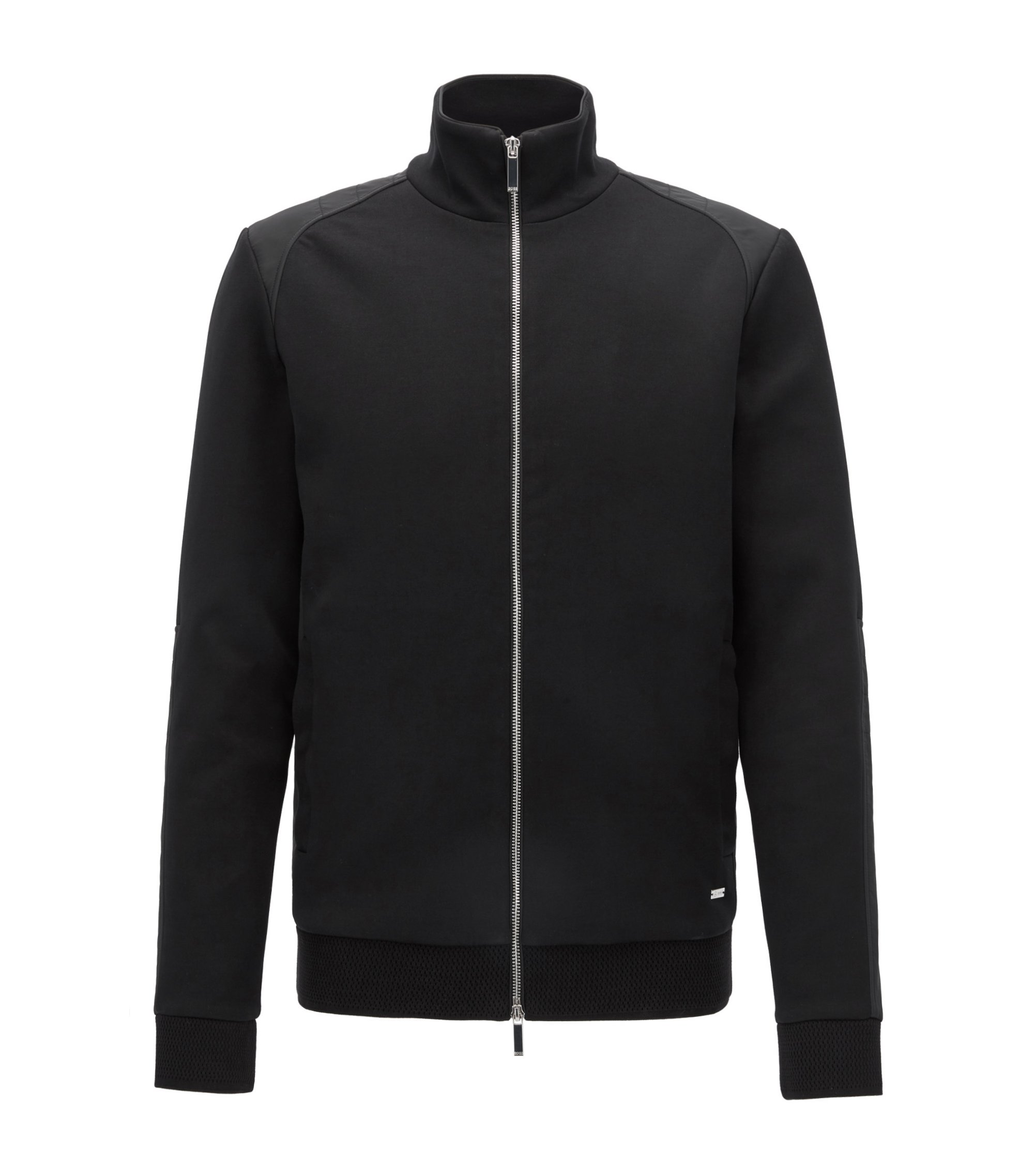 Cotton Blend Full-Zip Jacket | Soule, Black