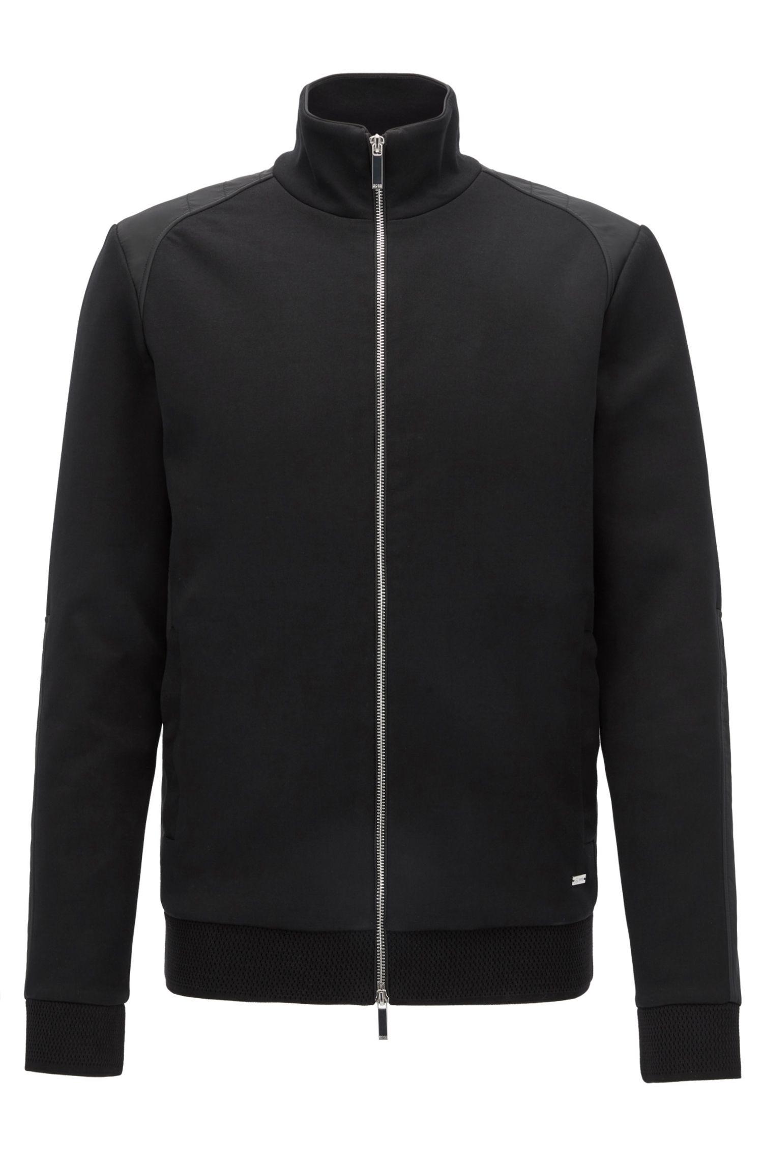 Cotton Blend Full-Zip Jacket | Soule