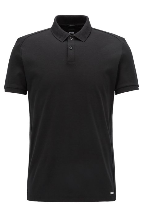 Boss mercedes benz mercerized cotton polo shirt slim for Mercedes benz shirts and clothing