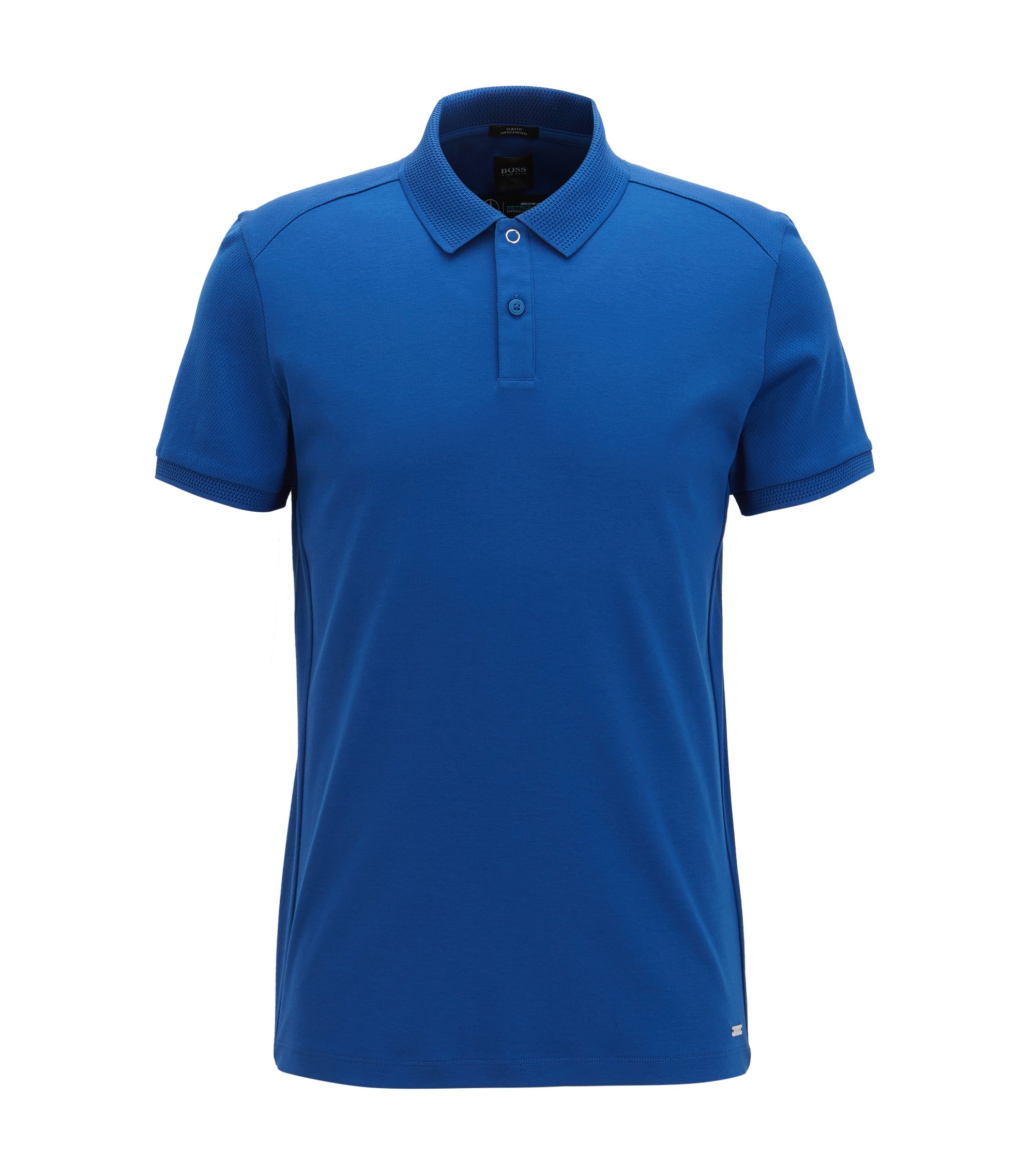 Mercedes-Benz Mercerized Cotton Polo Shirt, Slim Fit | Pollard, Blue