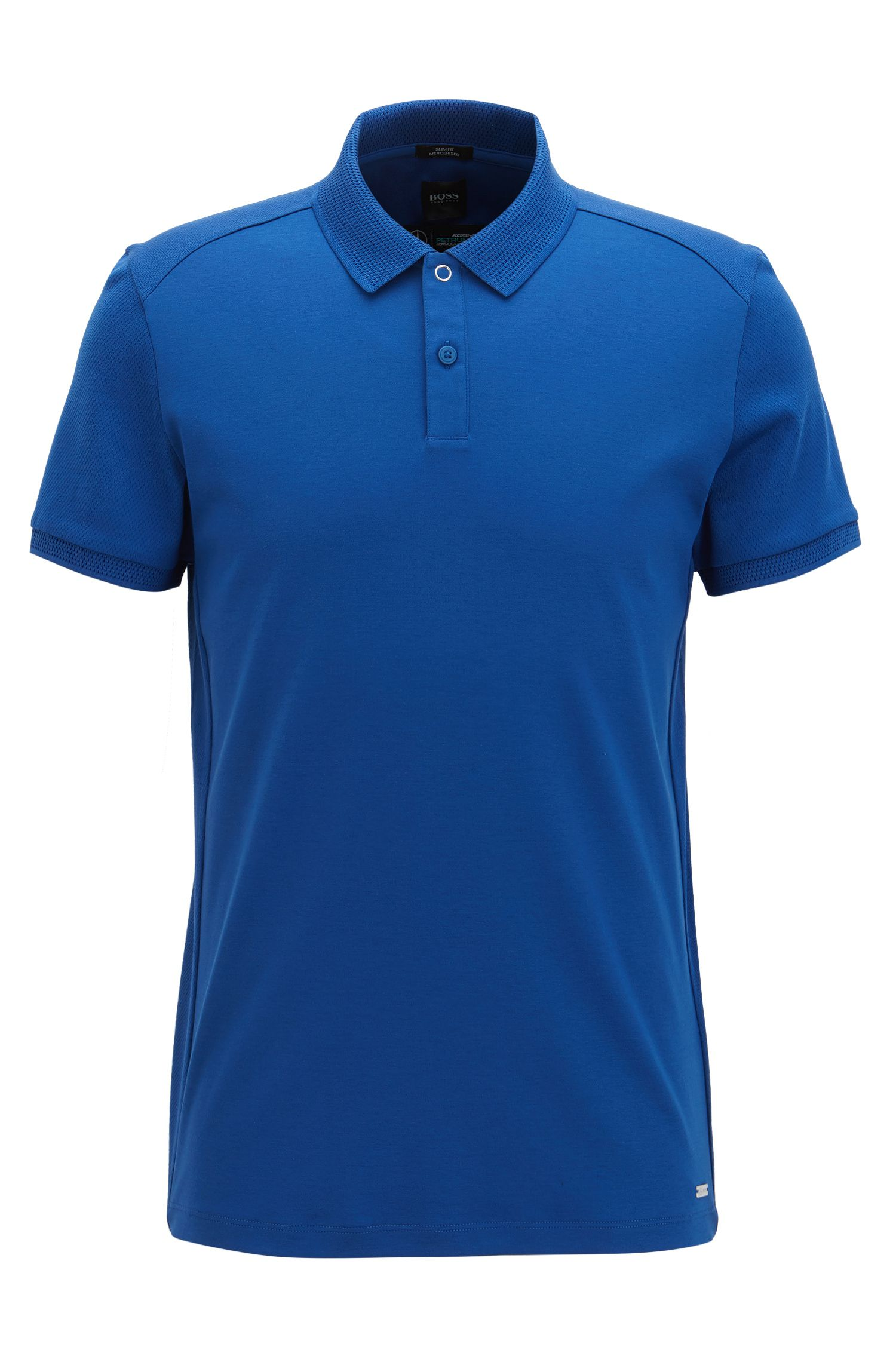 Mercedes-Benz Mercerized Cotton Polo Shirt, Slim Fit | Pollard