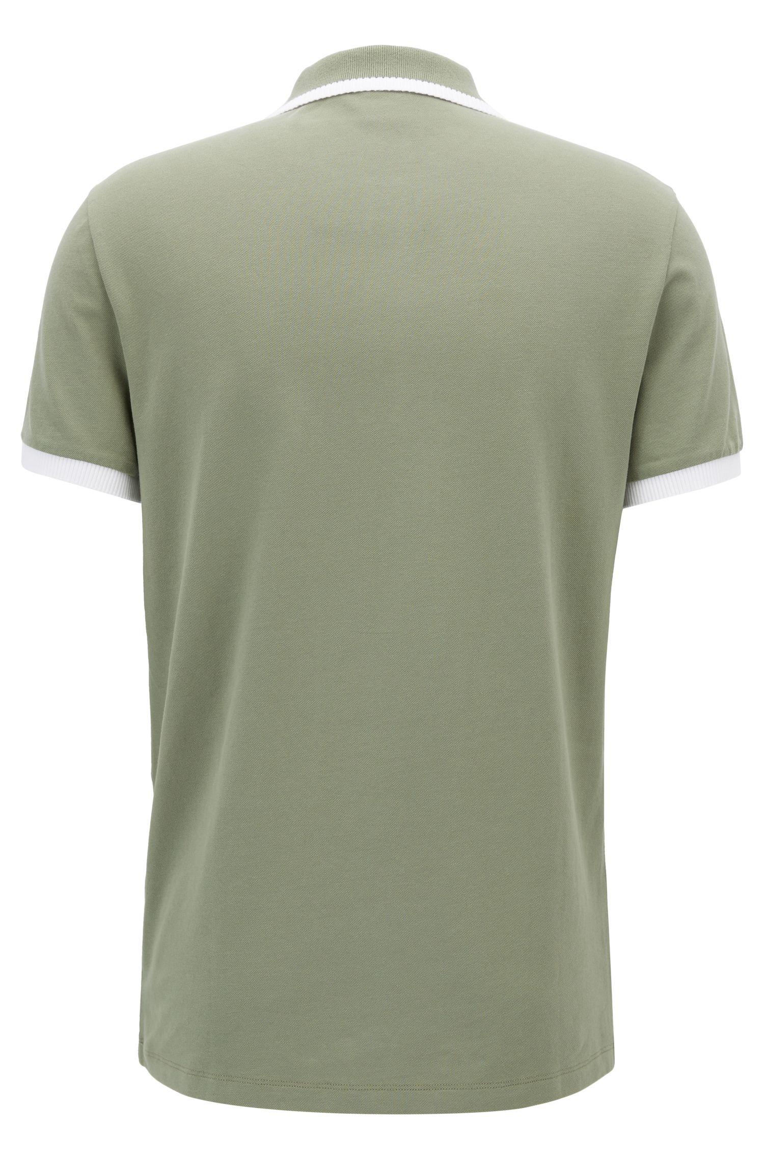 Stretch Cotton Polo Shirt, Slim Fit | Paiy, Light Green