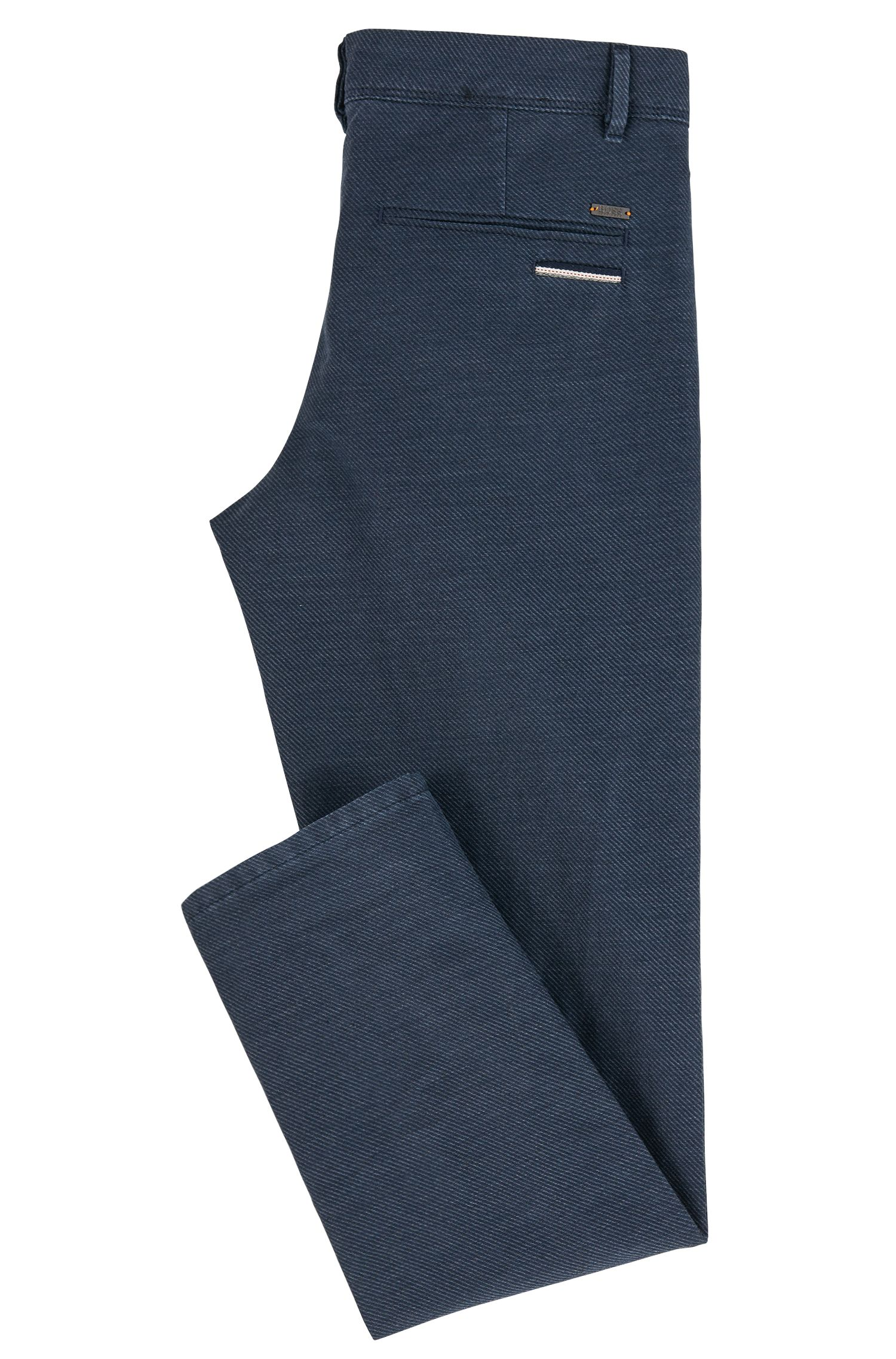 Cotton Linen Blend Pant, Tapered Fit | Stapered W