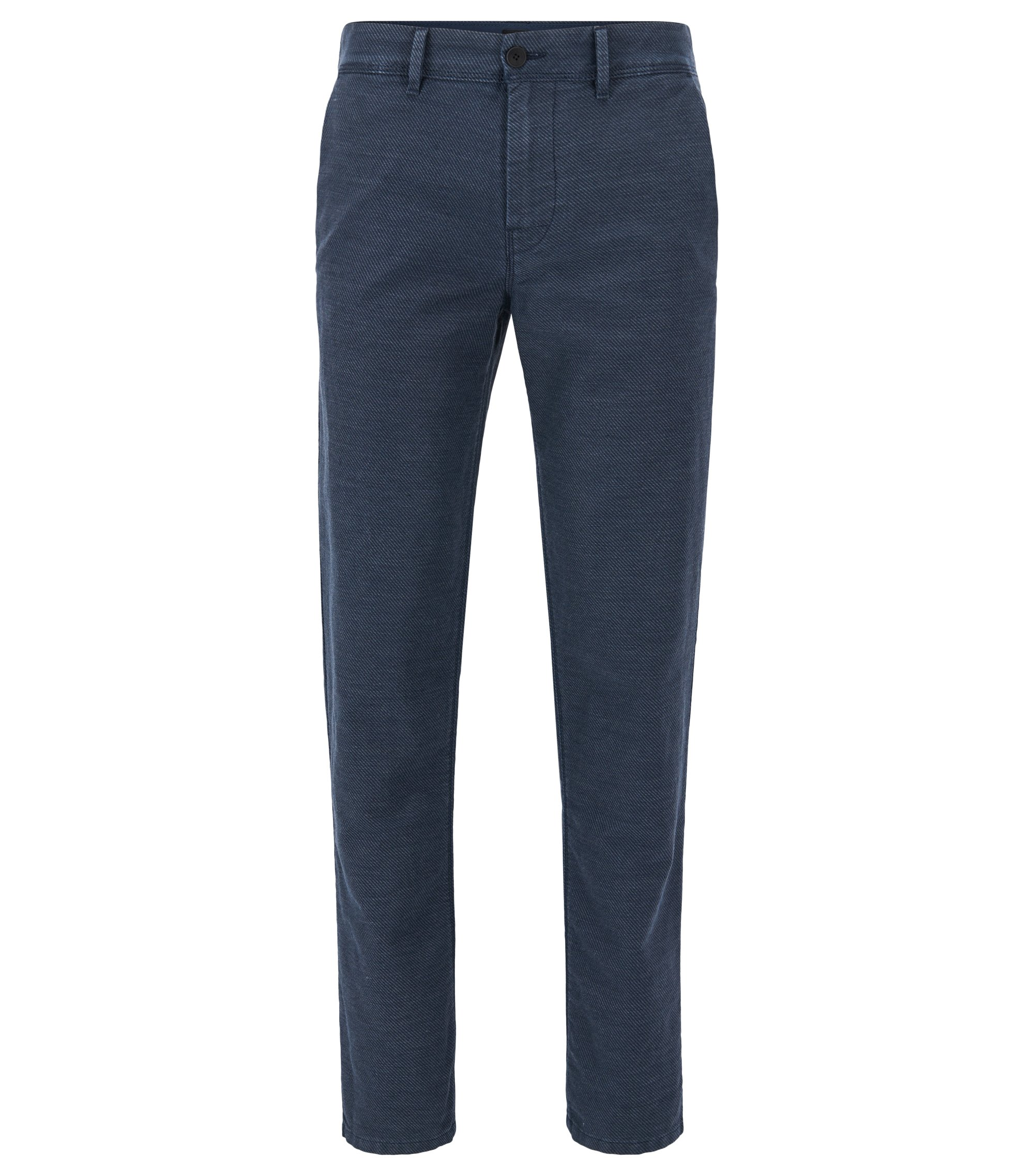 Cotton Linen Blend Pant, Tapered Fit | Stapered W, Dark Blue