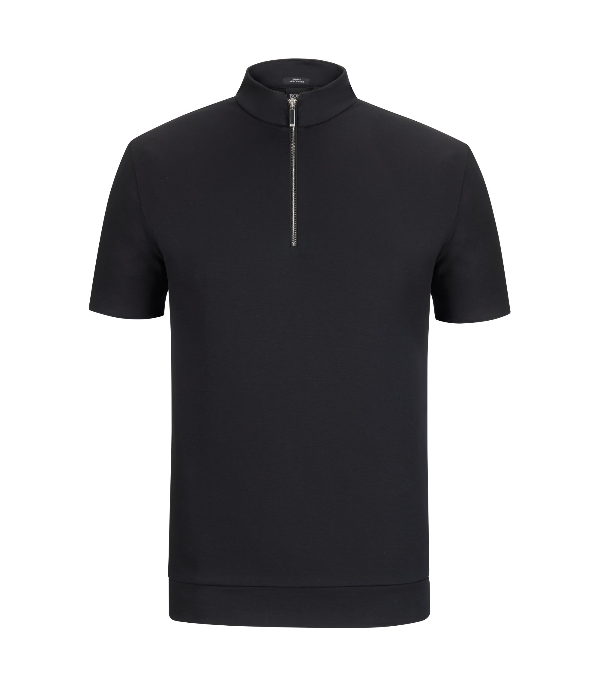 Mercedes-Benz Mercerized Cotton Polo Shirt, Slim Fit | Pallardi, Black