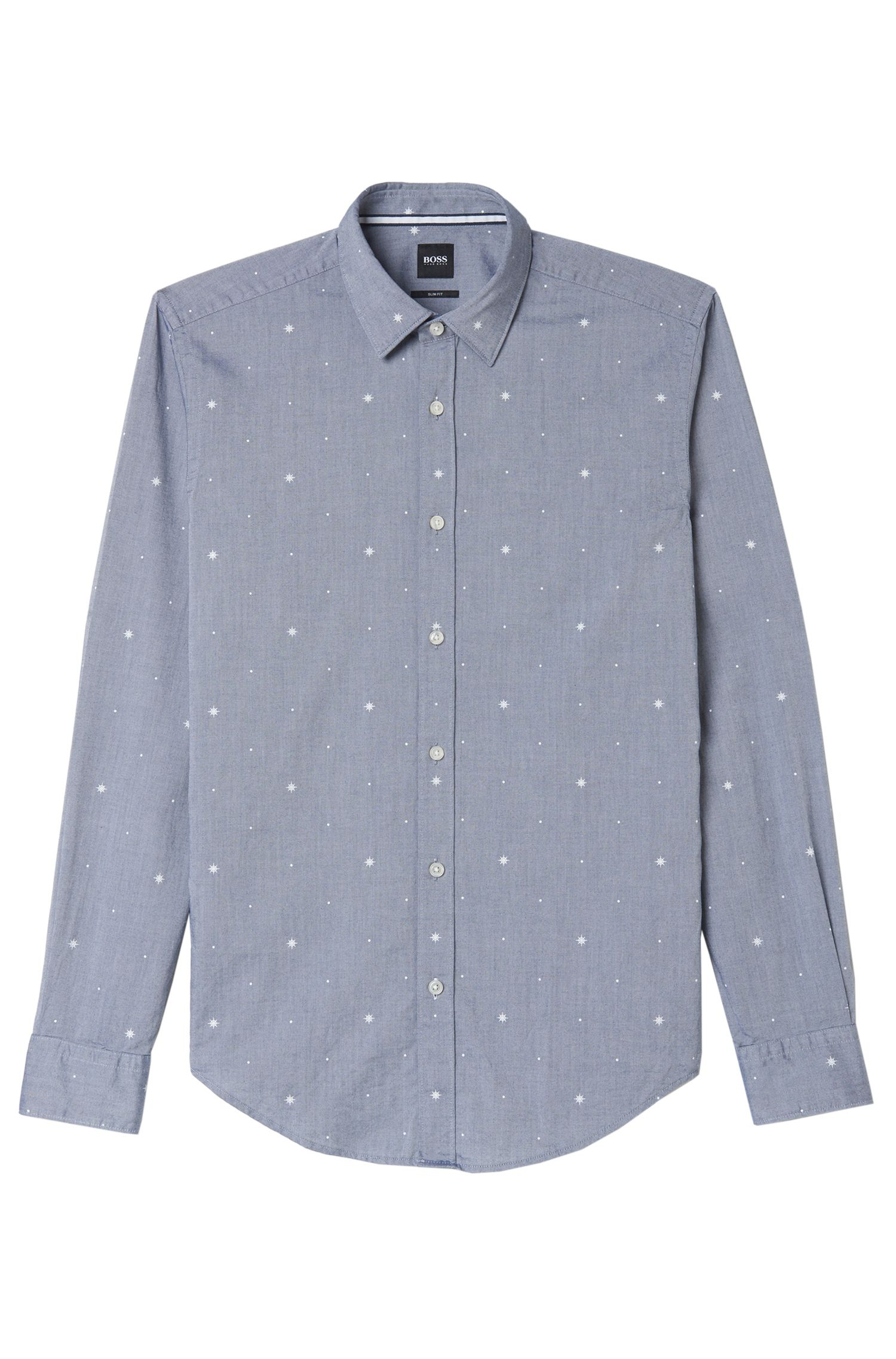 Fil Coupé Cotton Dress Shirt, Slim Fit | Ronni