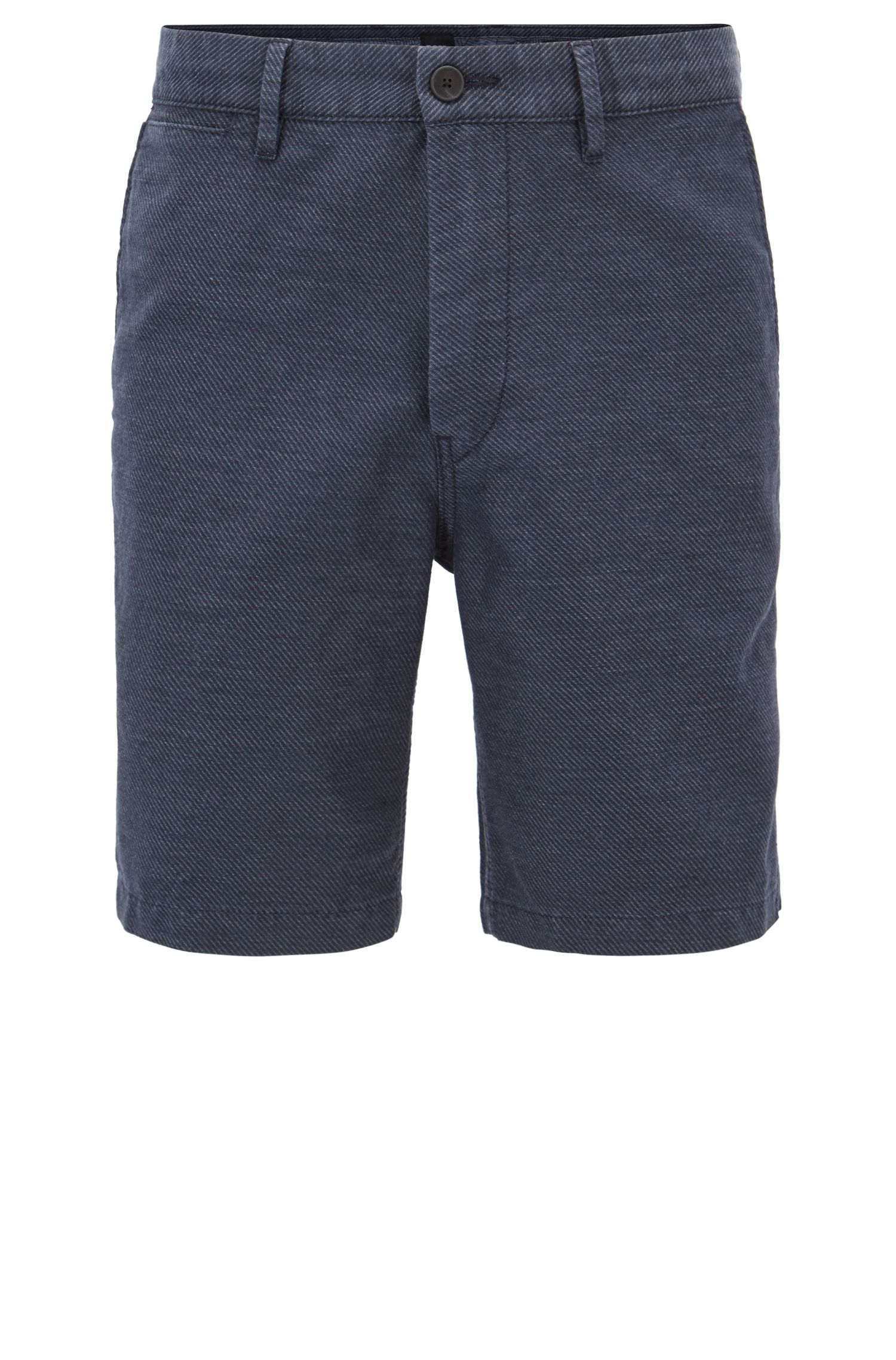 Cotton Linen Blend Short, Tapered Fit | Siman Shorts W