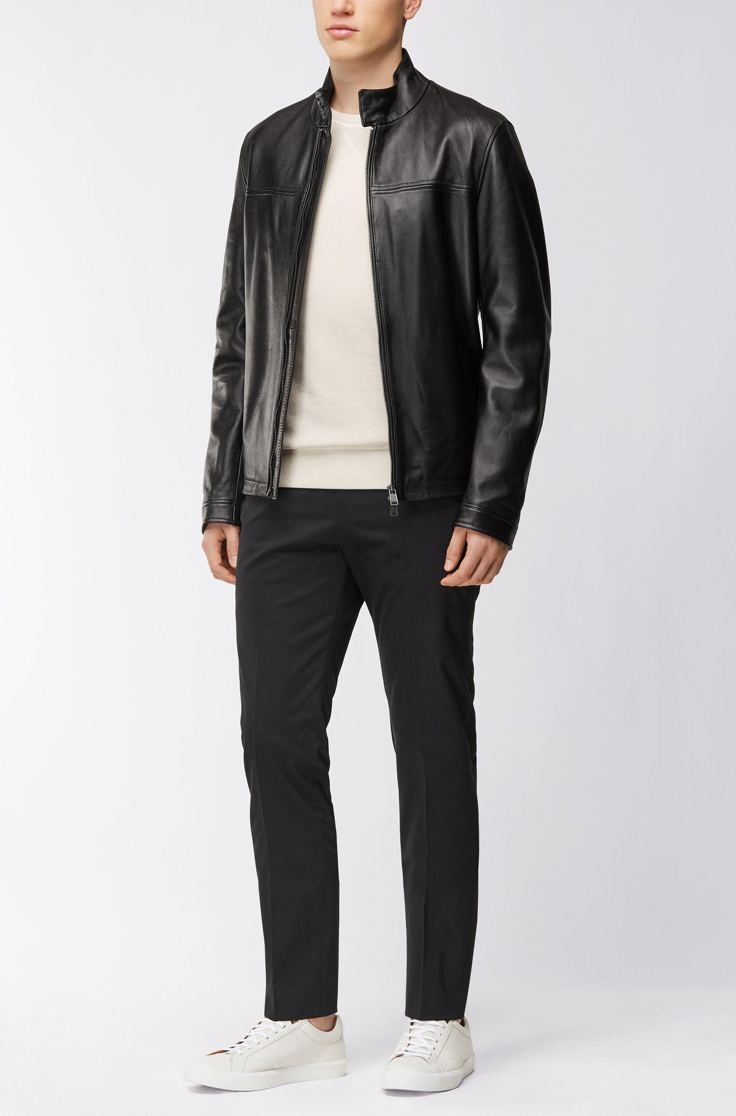 Nappa Leather Jacket | Nerous, Black