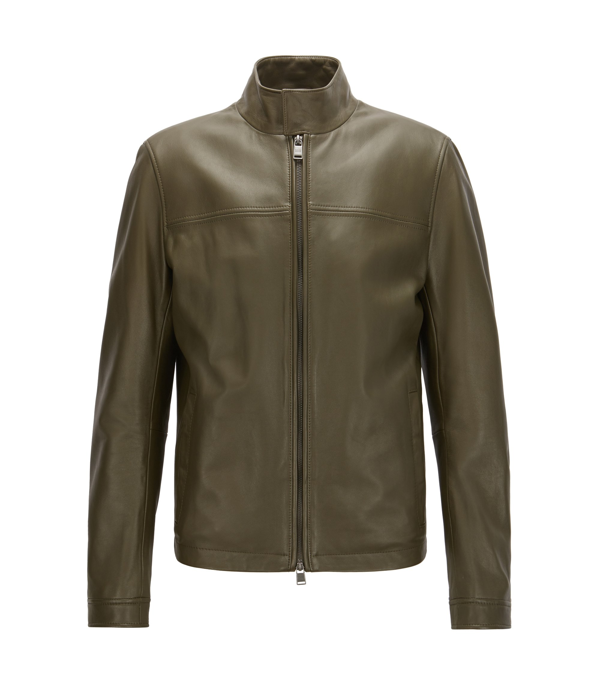 Nappa Leather Jacket | Nerous, Open Green