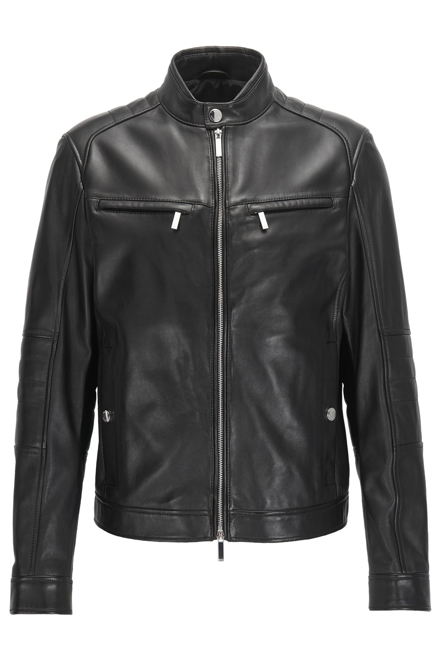 Leather Moto Jacket   Nyvano