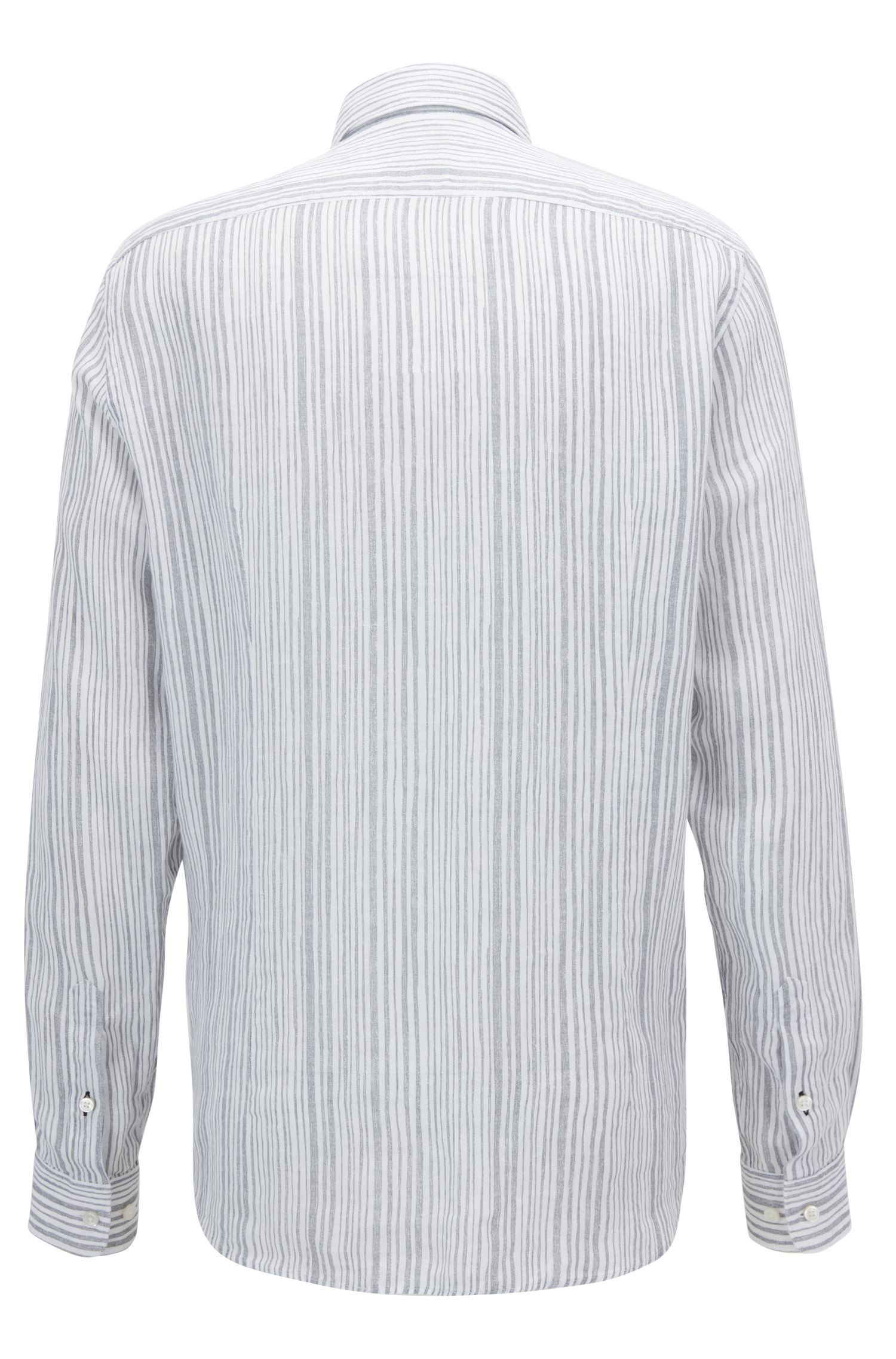 Striped Linen Sport Shirt, Regular Fit | Lukas