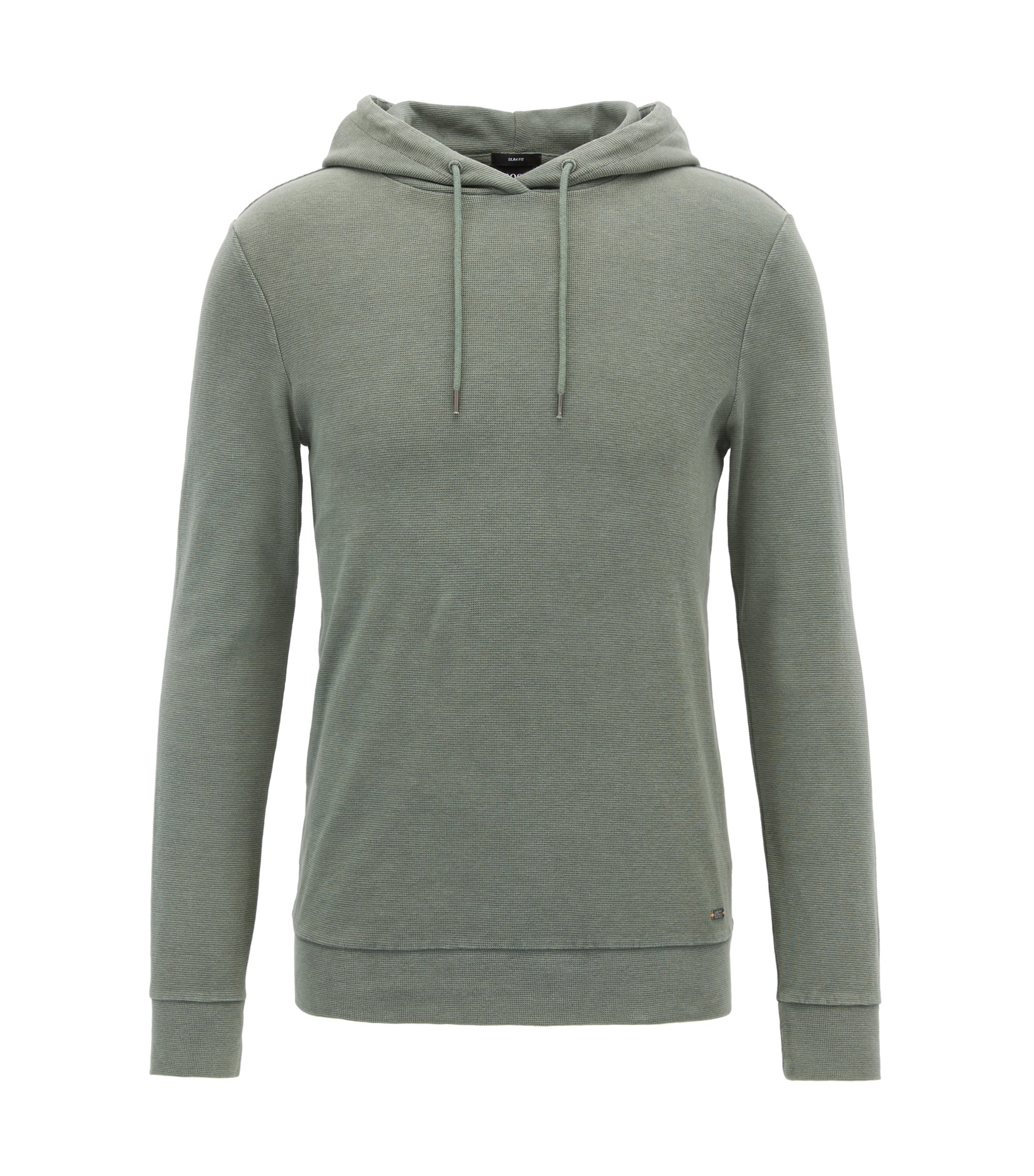 Stretch Cotton Hoodie | Walter, Light Green