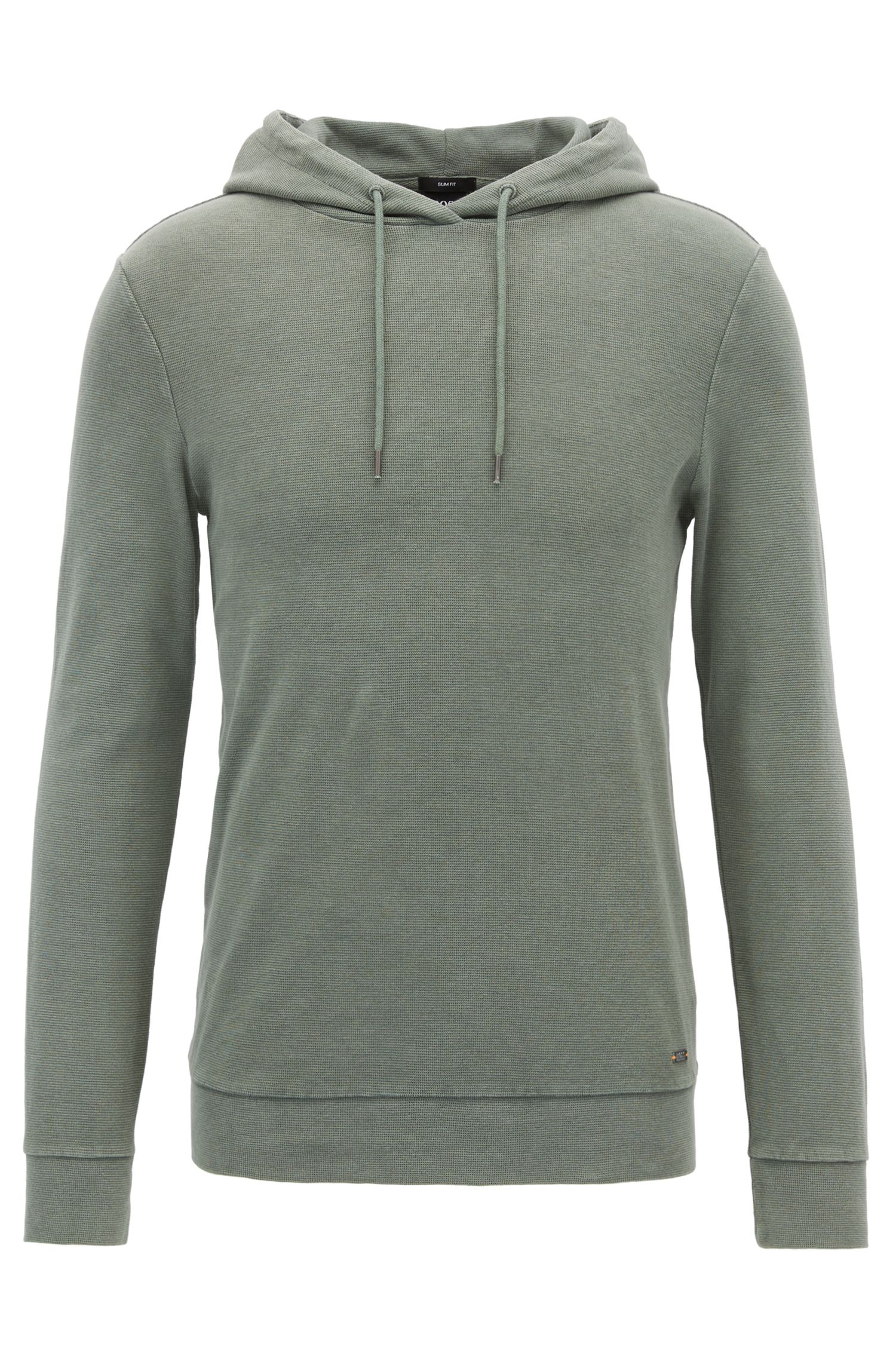 Stretch Cotton Hoodie | Walter