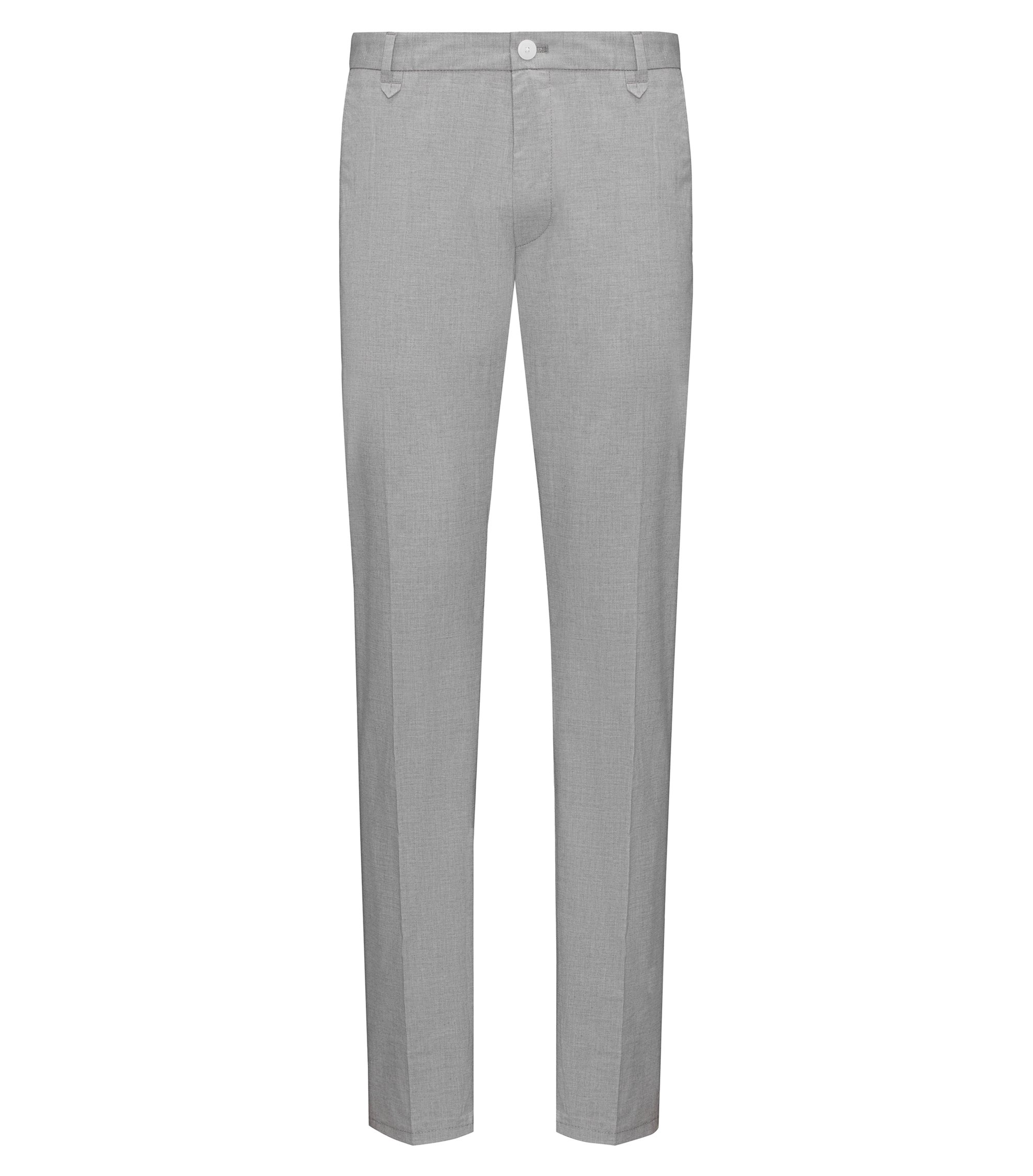 Stretch Cotton Pant, Extra Slim Fit | Heldor, Open Grey