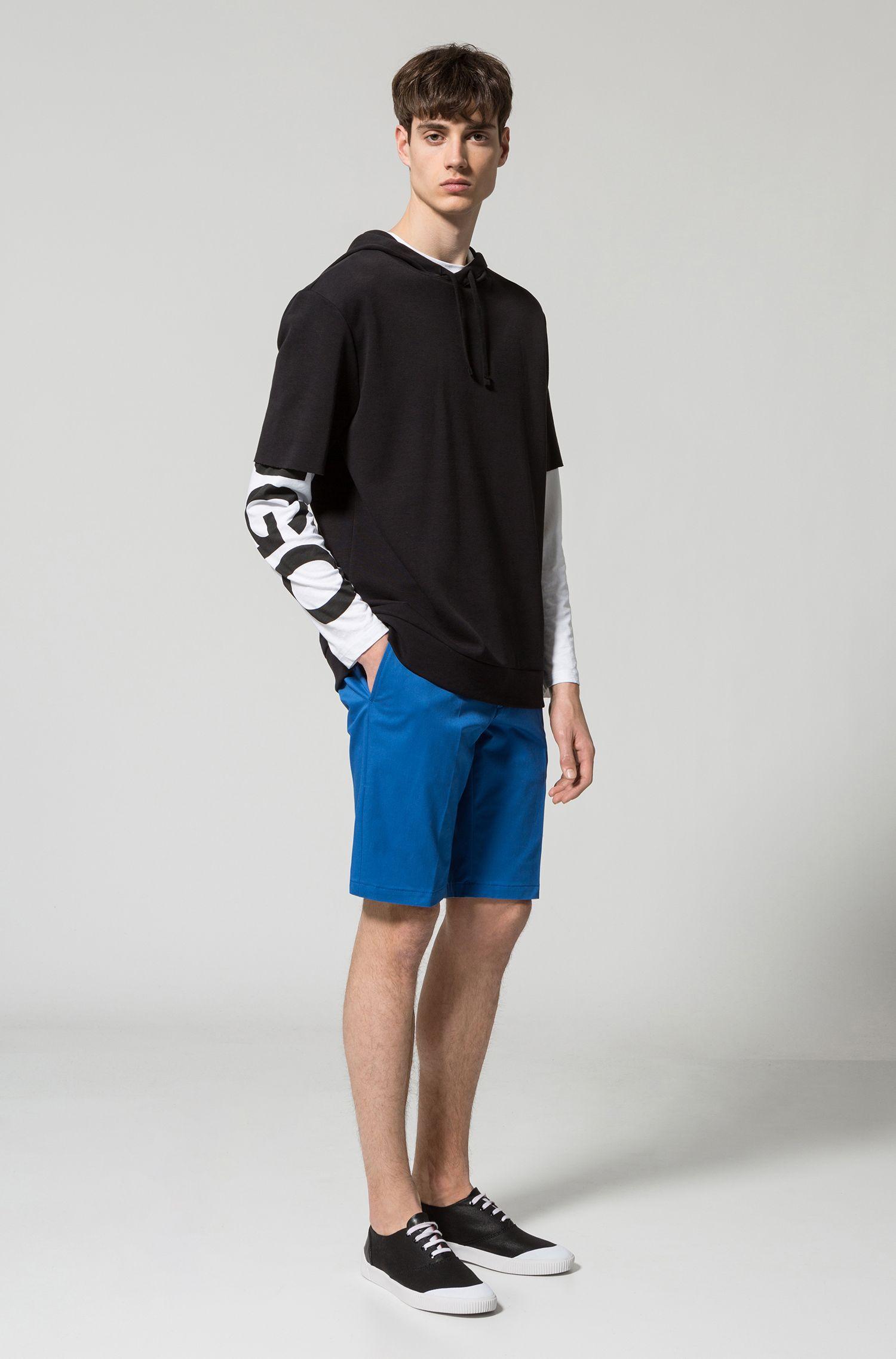 Stretch Cotton Short, Slim Fit | Hano