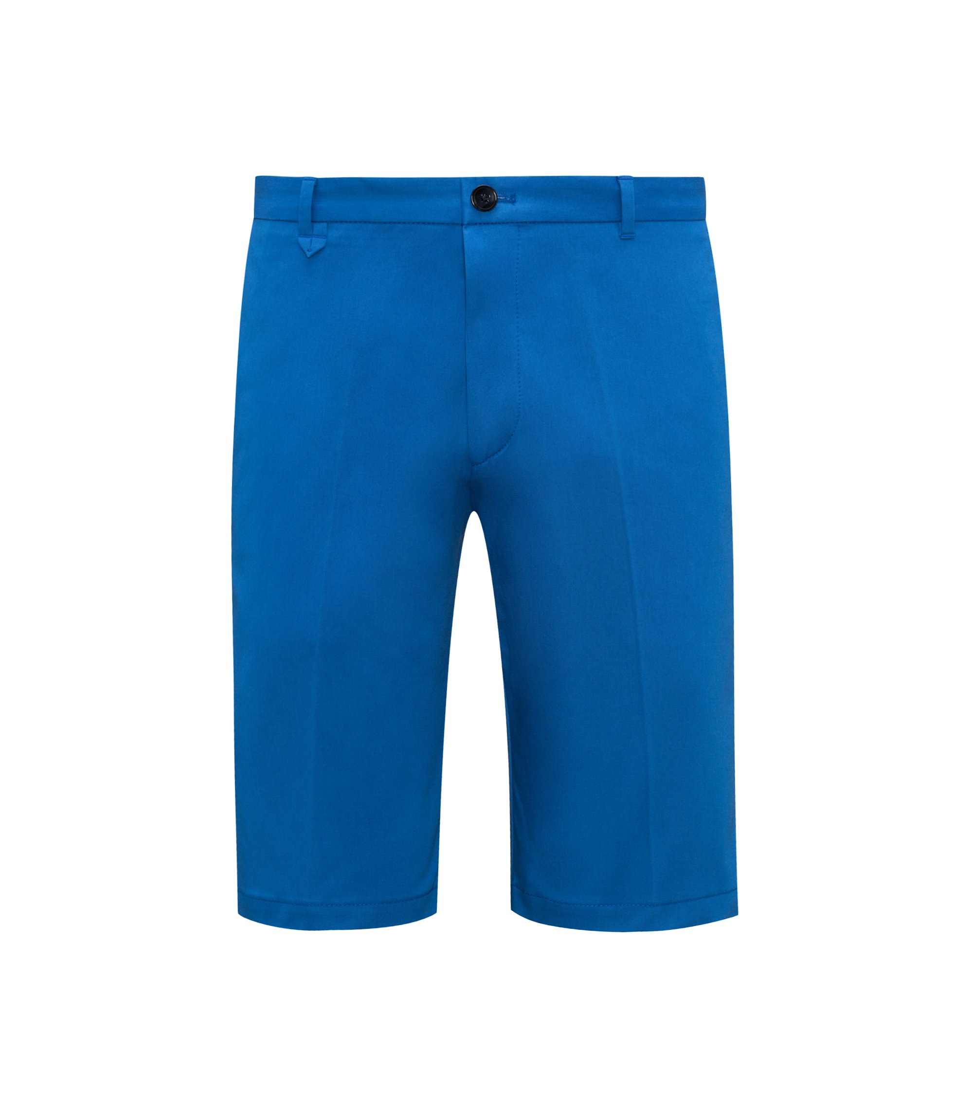 Stretch Cotton Short, Slim Fit | Hano, Open Blue