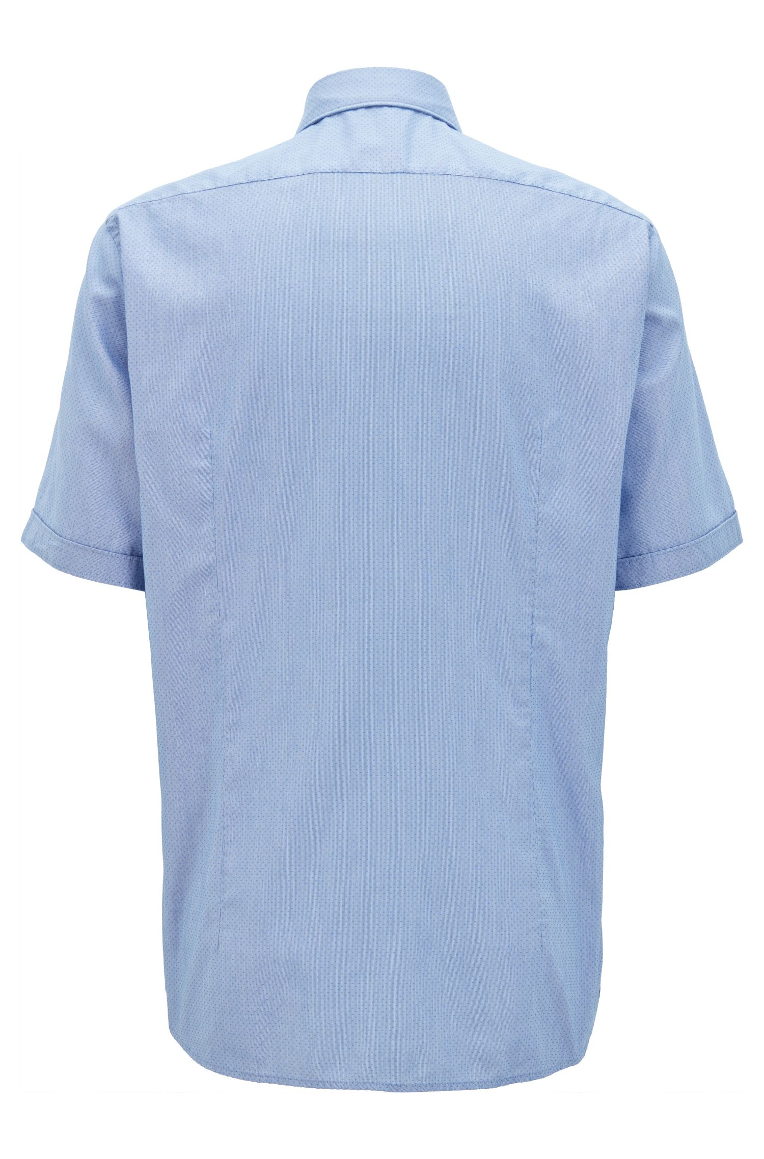 Cotton Lyocell Sport Shirt, Regular Fit | Luka, Blue