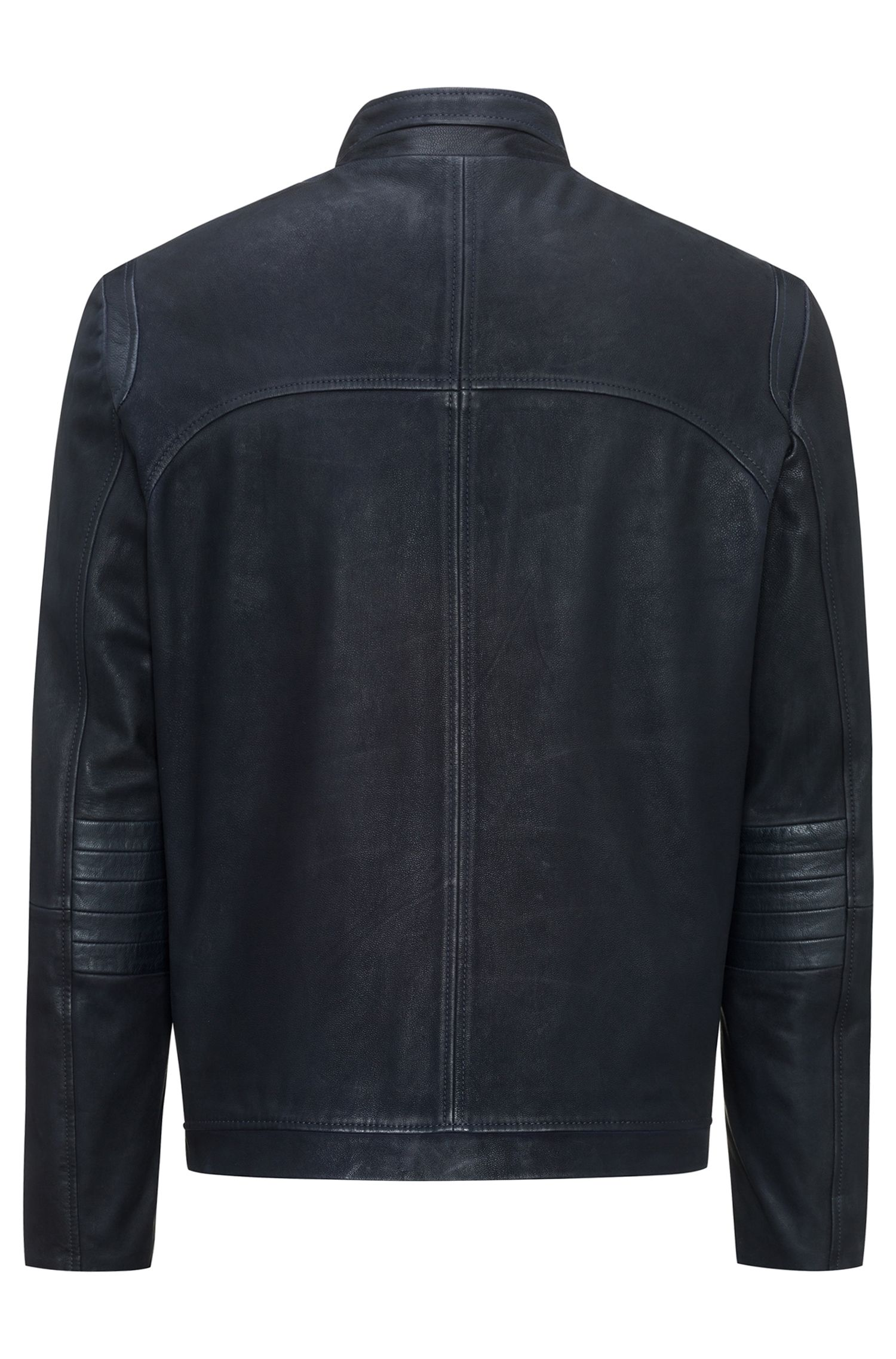 Nappa Leather Jacket | Lectric, Dark Blue