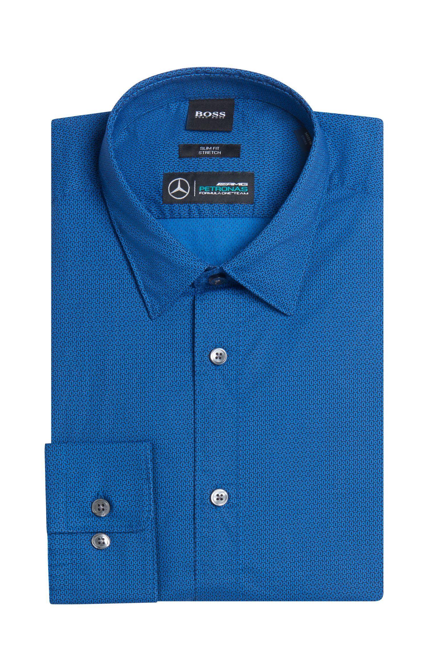 Mercedes-Benz Patterned Stretch Sport Shirt, Slim Fit | Reid
