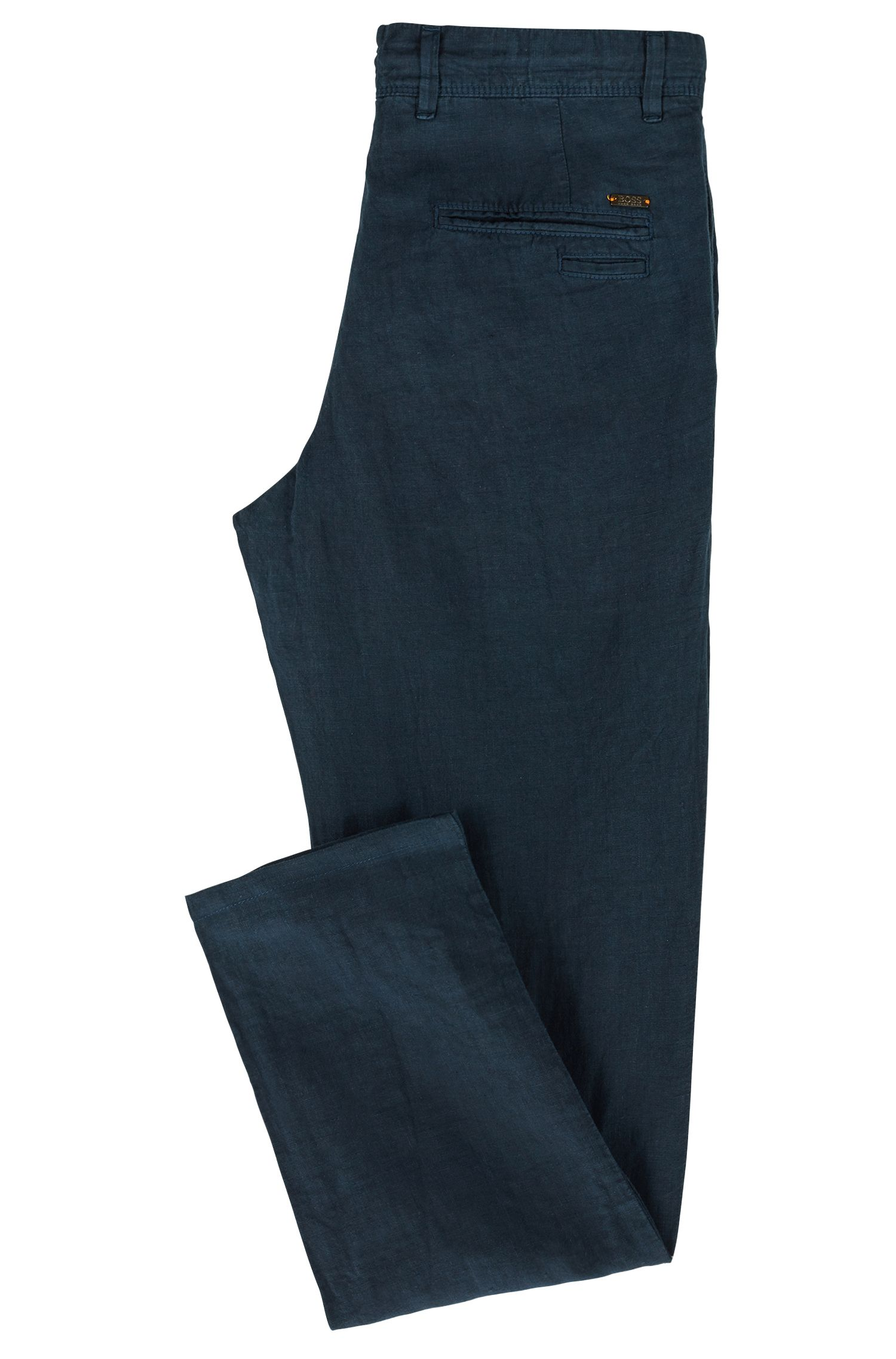 Linen Pants, Tapered Fit | Stapered4-D