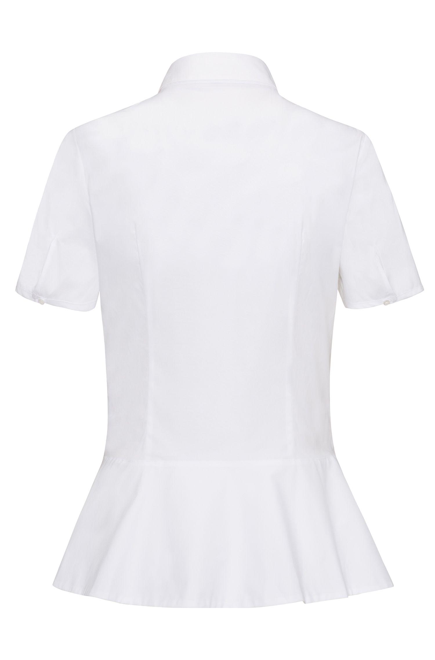 Stretch Cotton Blouse | Enilai