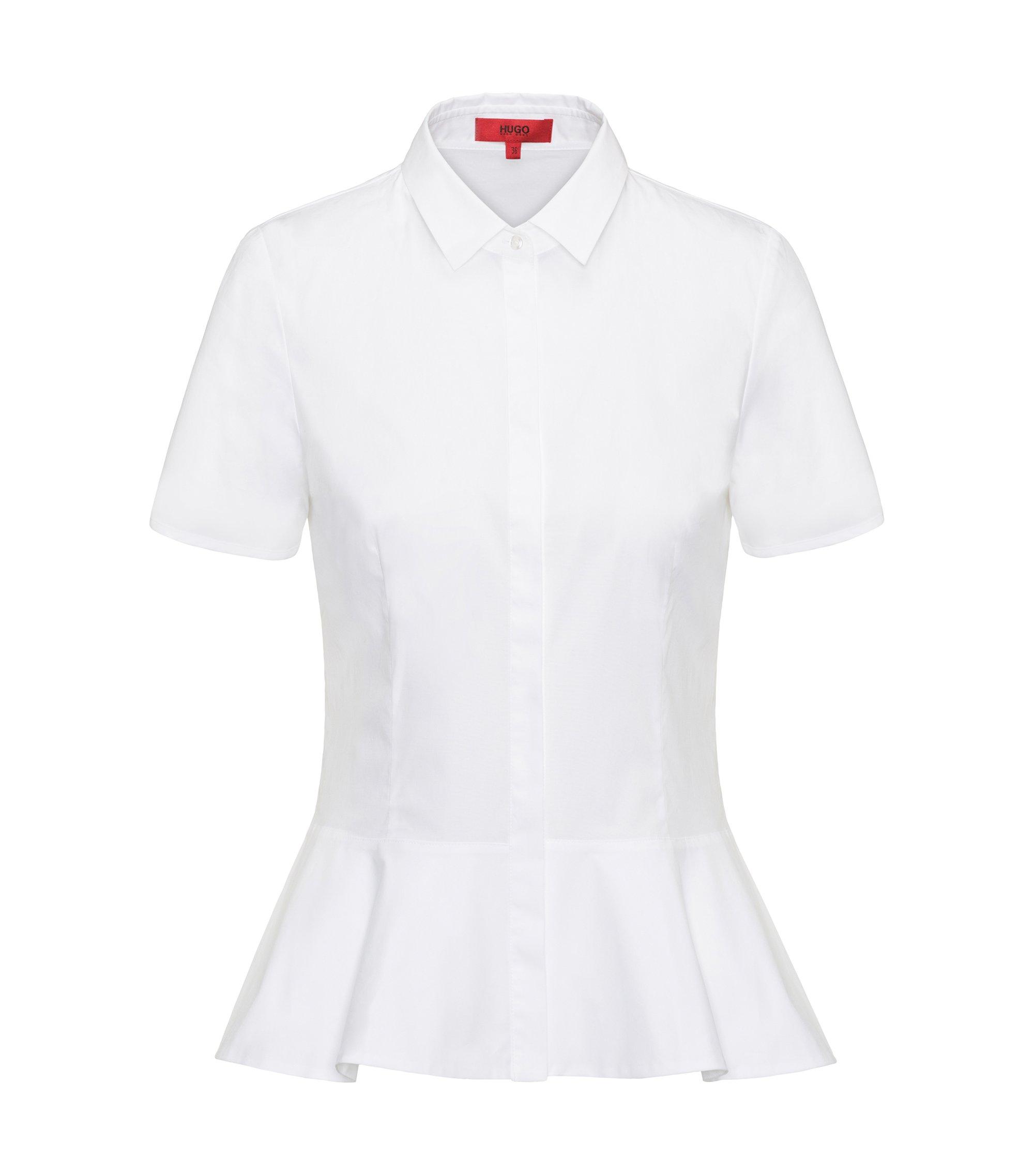 Stretch Cotton Blouse | Enilai, Open White