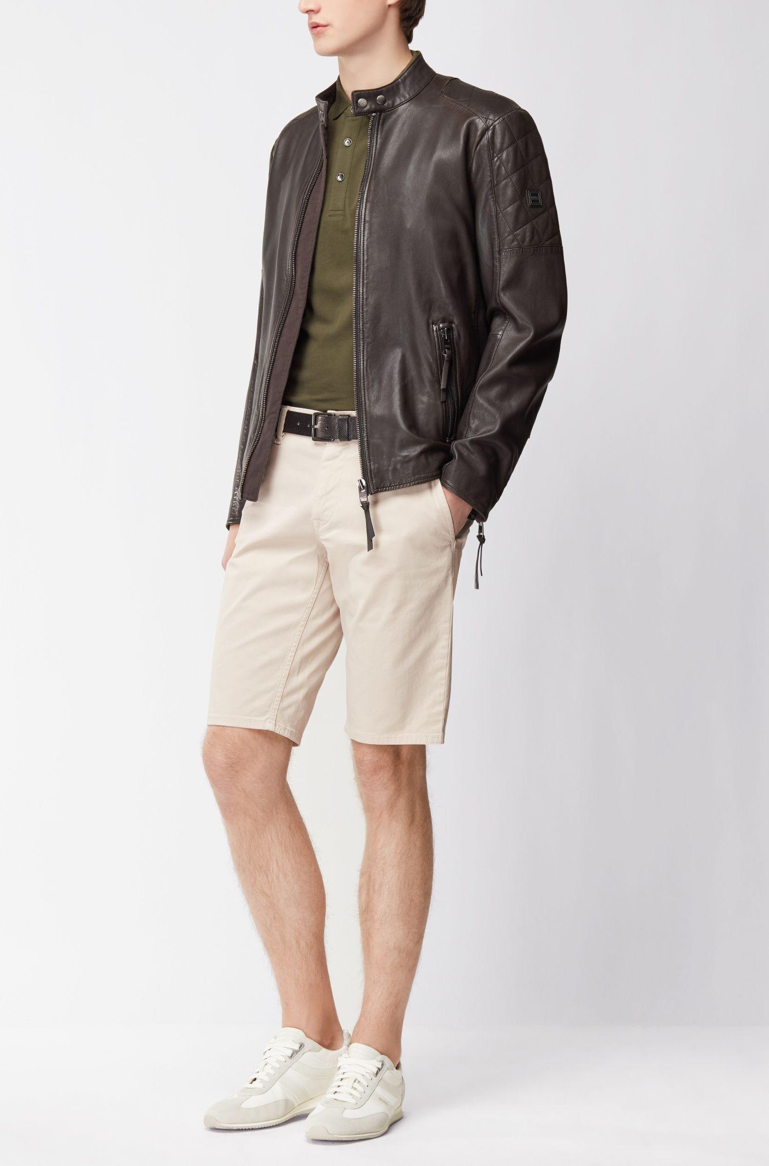 Stretch Cotton Chino Short, Slim Fit | Schino Slim Shorts D