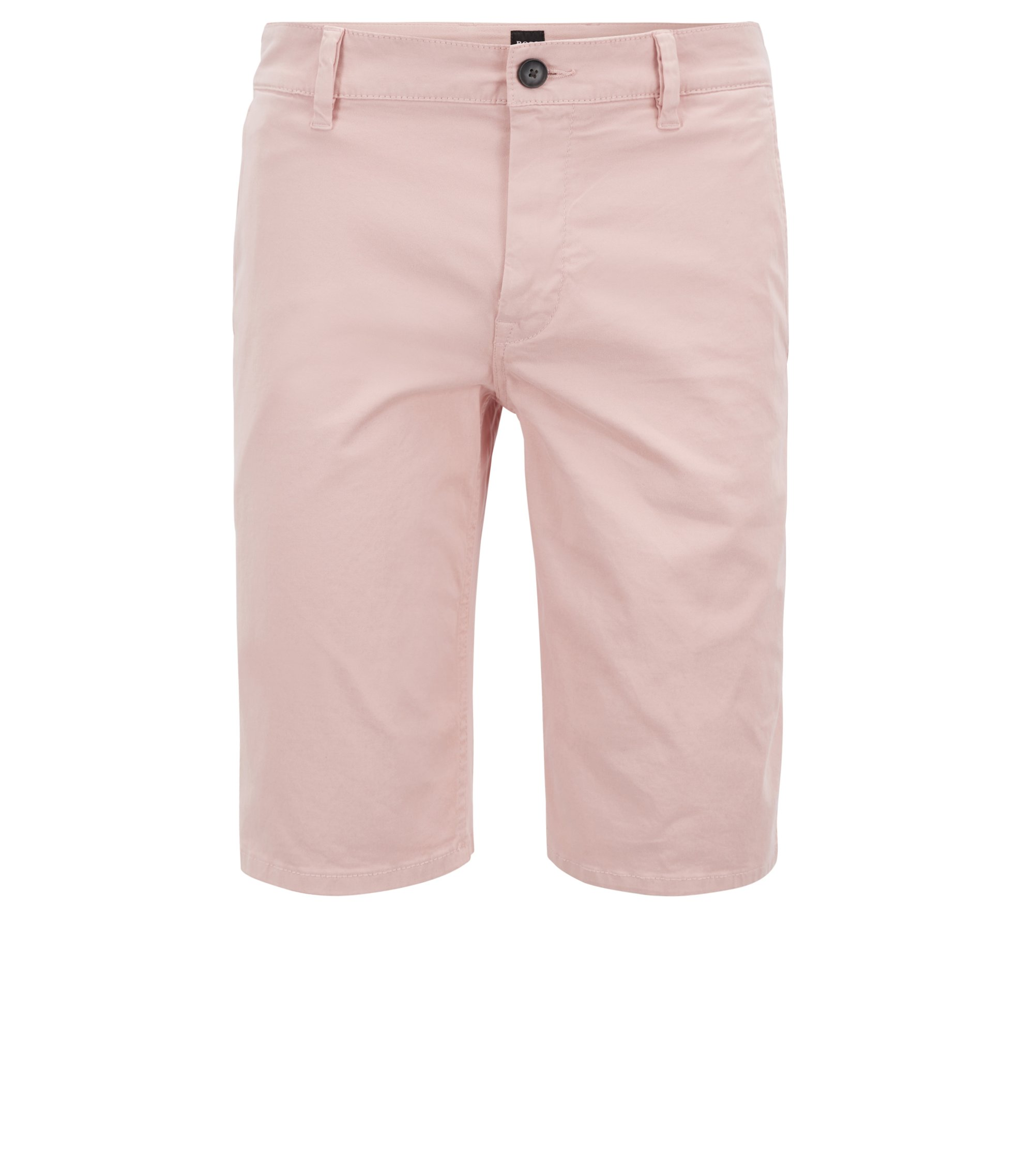 Stretch Cotton Chino Short, Slim Fit | Schino Slim Shorts D, light pink