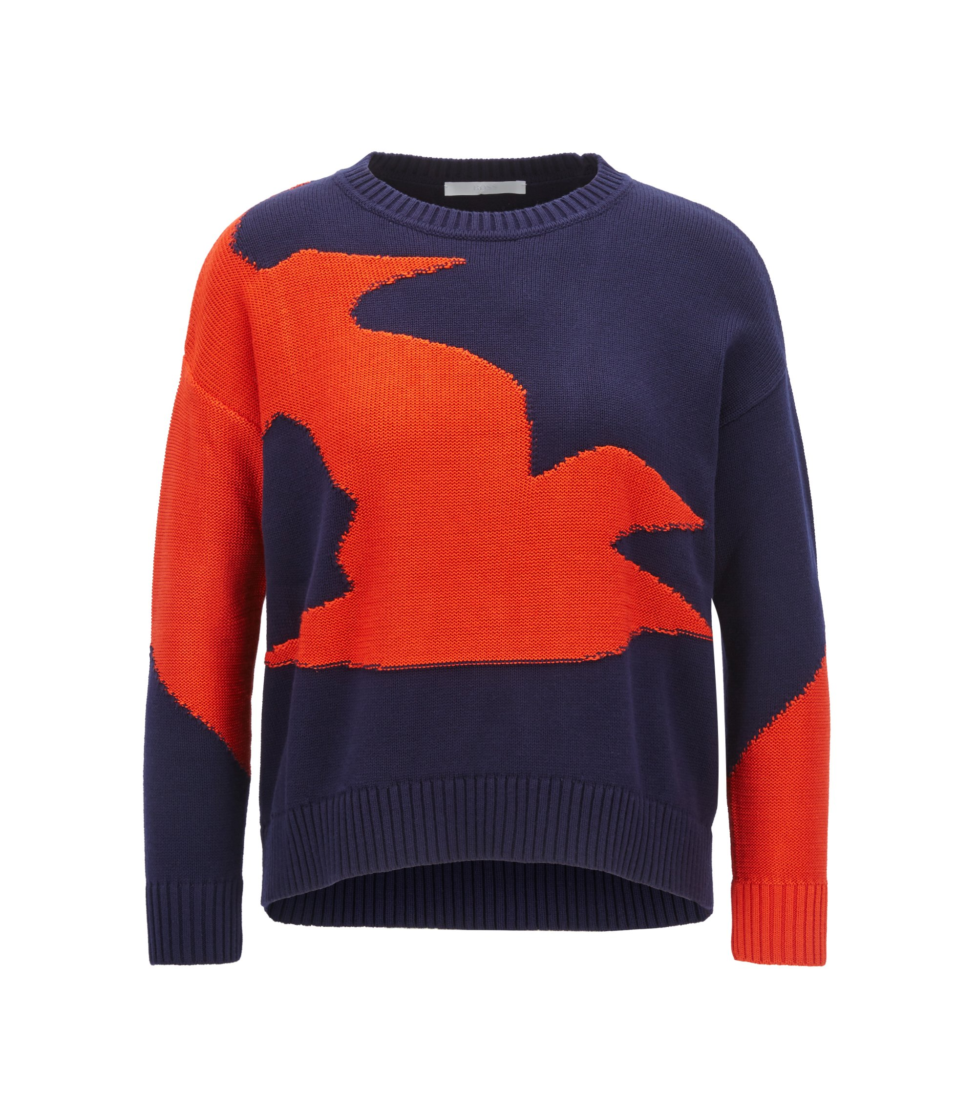 Bird Intarsia Sweater | Fabby, Patterned