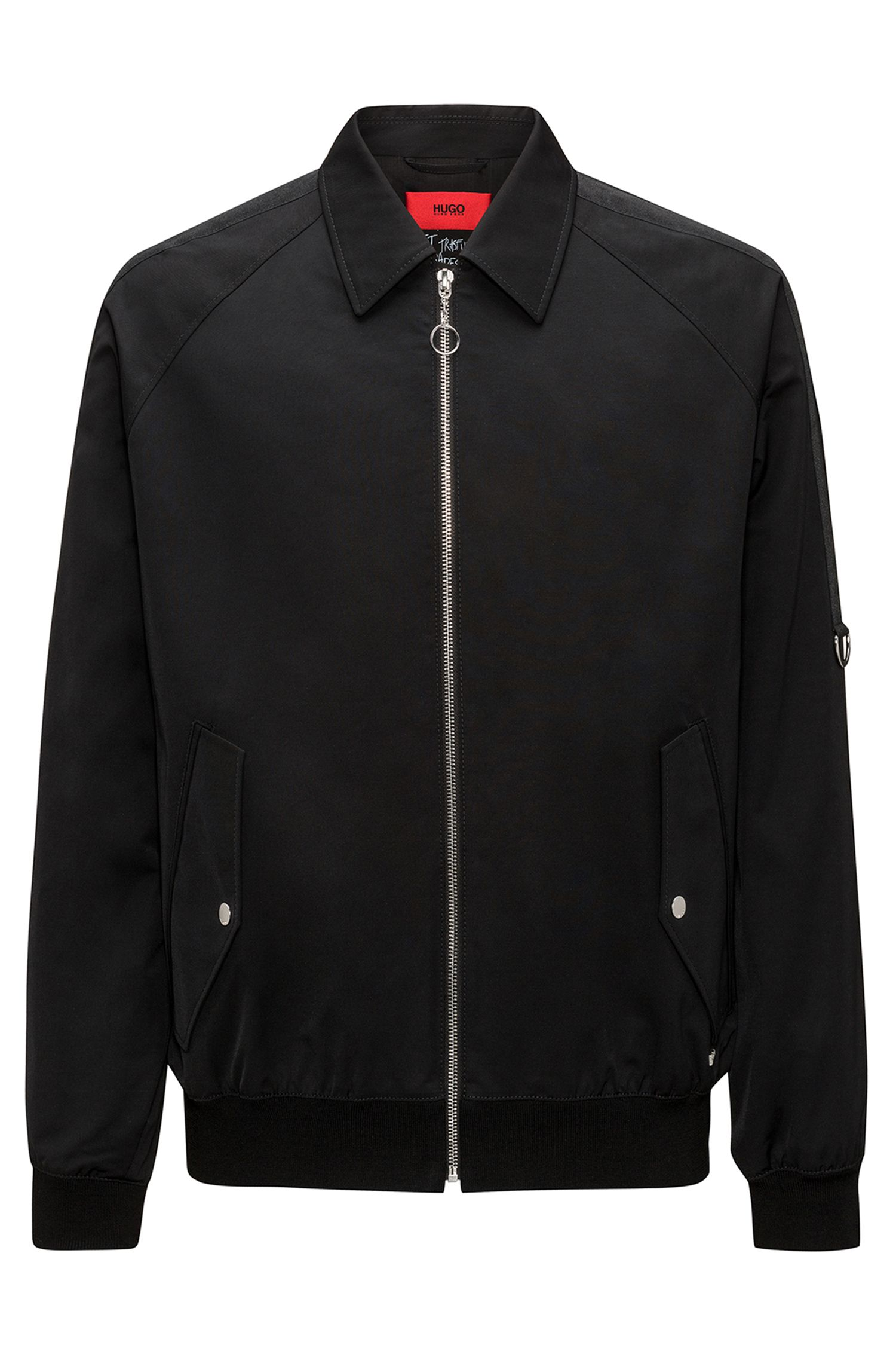 Cotton Blend Jacket | Bogoun, Black
