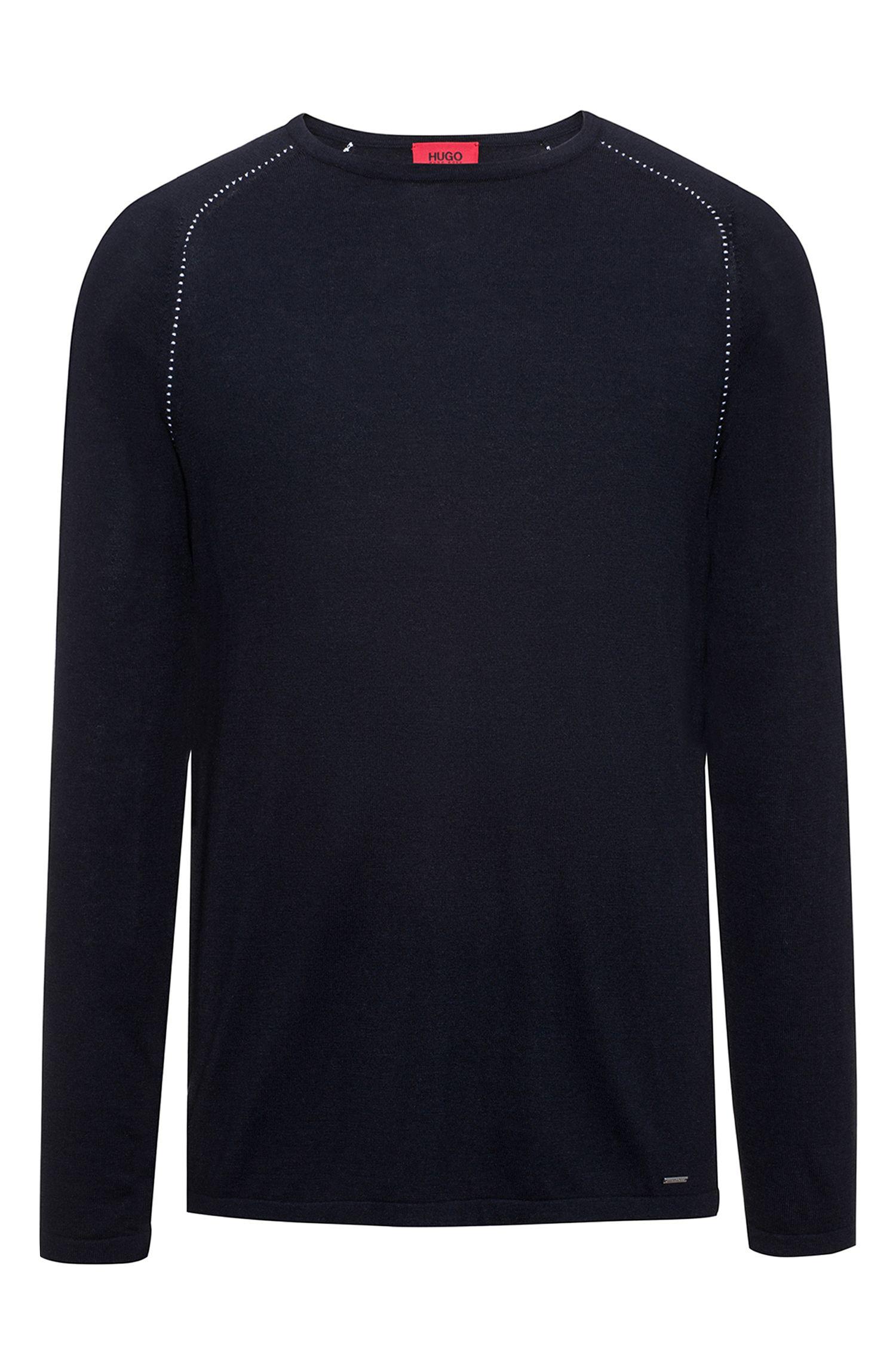 Cotton Blend Raglan-Stitched Sweater   Sevon