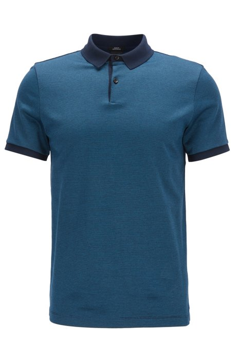 5a8dd755d BOSS - Mercerized Cotton Polo Shirt, Slim Fit | Penrose