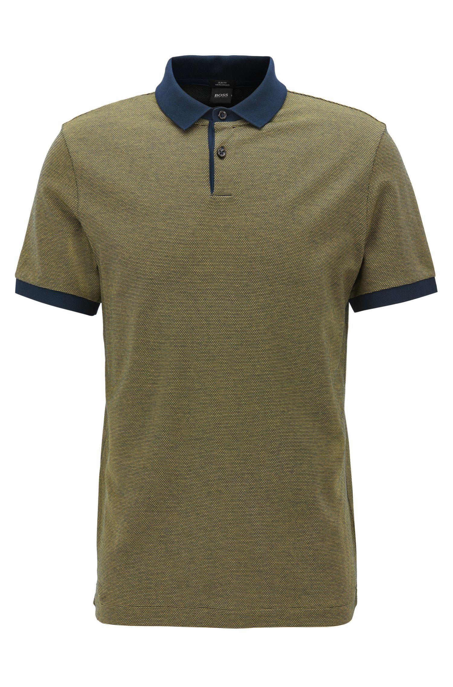 Mercerized Cotton Polo Shirt, Slim Fit | Penrose