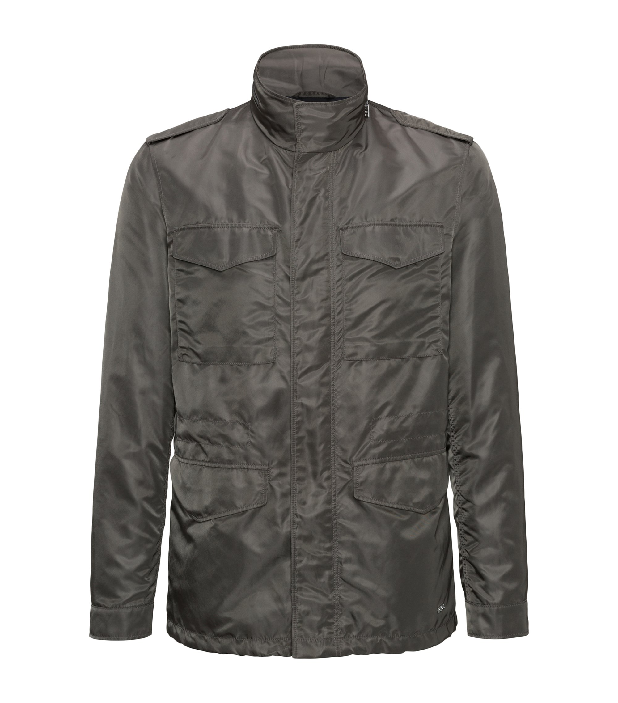 Nylon Field Jacket | Bingou, Brown