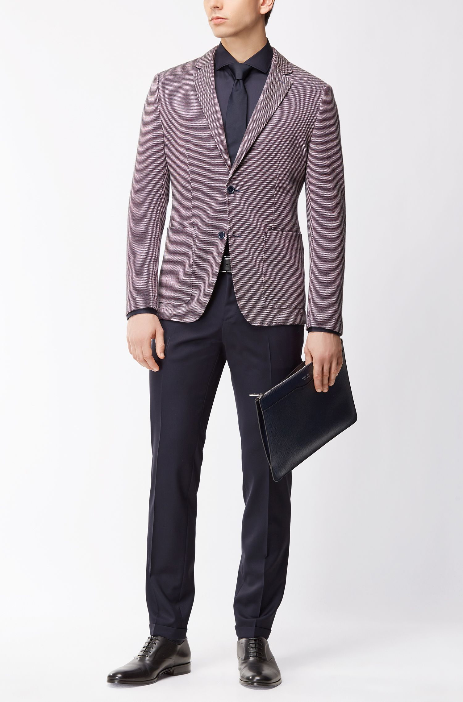 Cotton Linen Sport Coat, Slim Fit | Neldon J