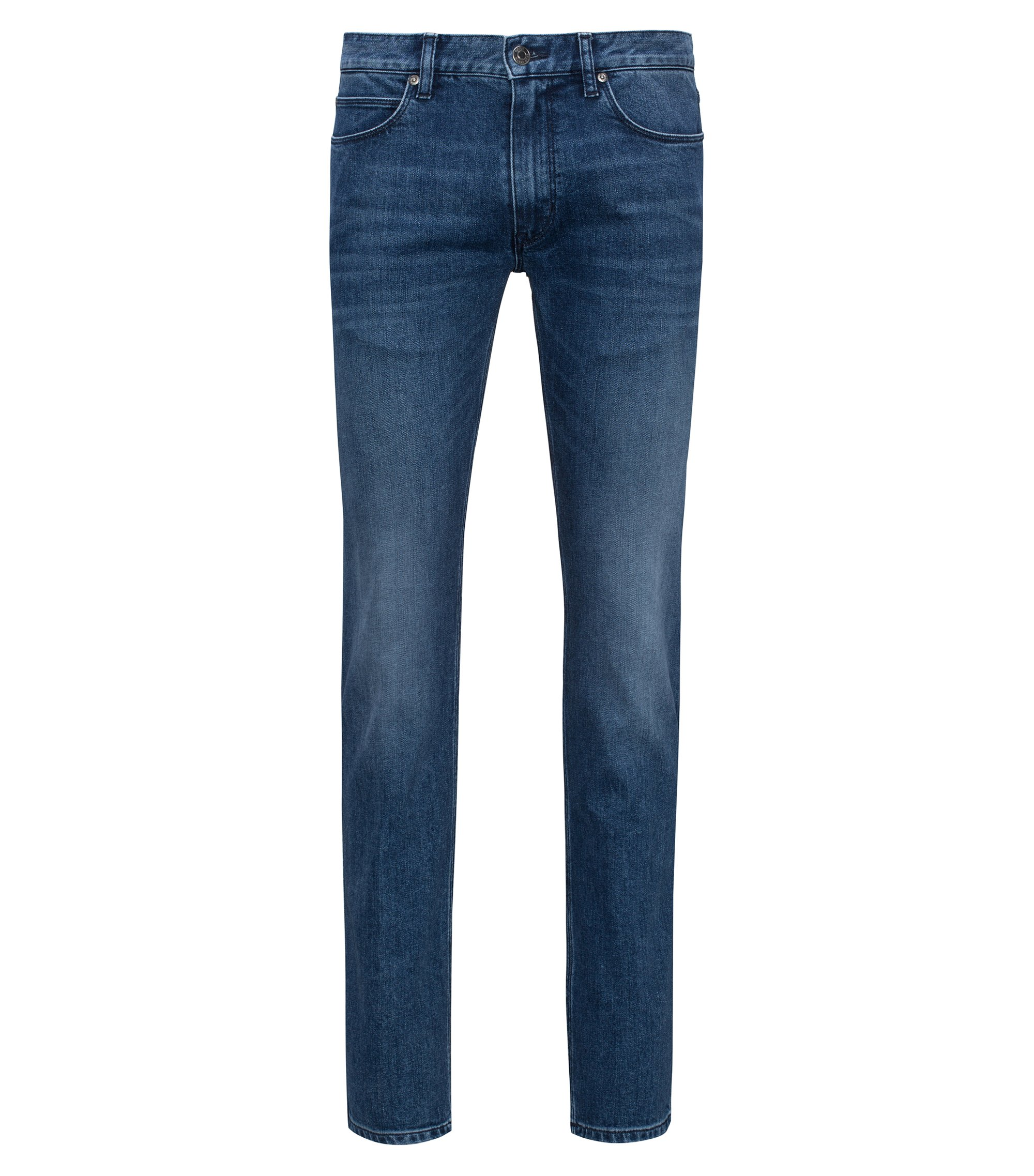 Stretch Cotton Jeans, Slim Fit | Hugo 708, Turquoise
