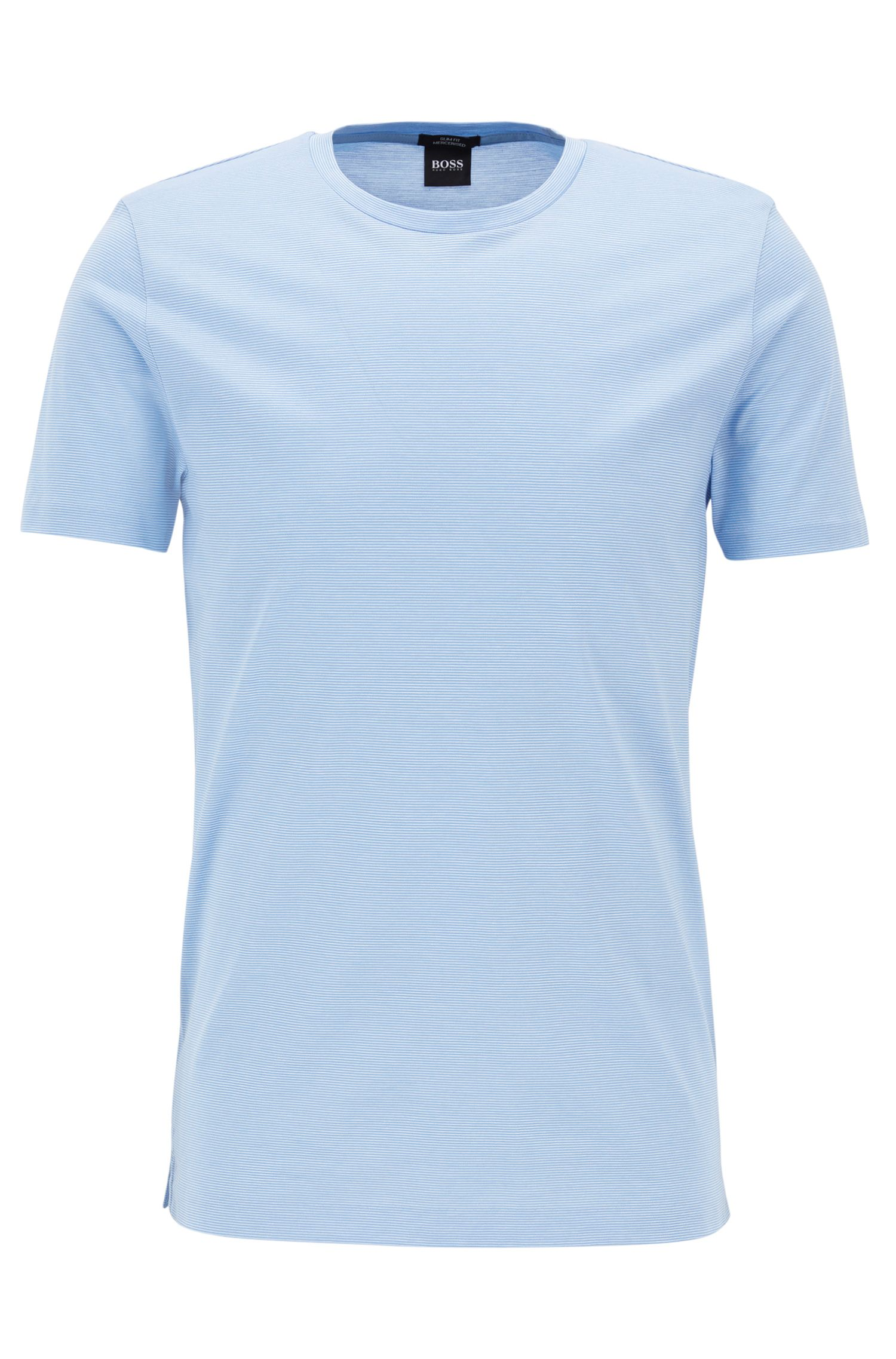 Mercerized Cotton T-Shirt | Tessler, Light Blue