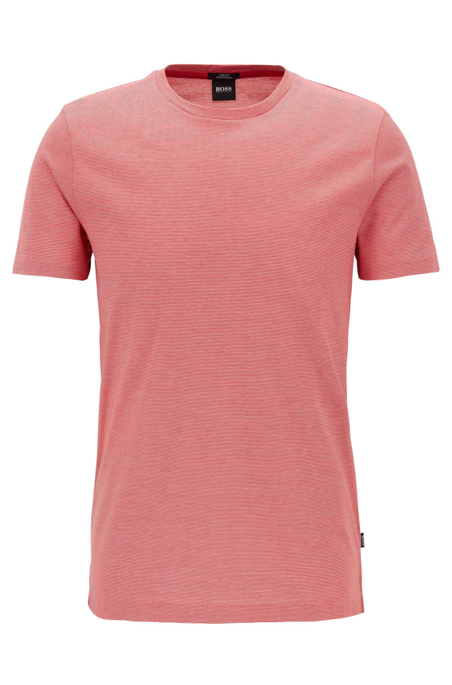 Mercerized Cotton T-Shirt | Tessler, Dark pink